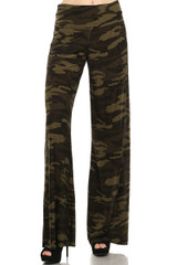Camouflage Wide Leg Pants