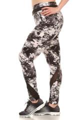 Melodic Floral Mesh Sport Leggings - Plus Size