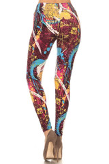 Back image of Picasso in the City Leggings