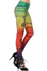 Rainbow Snakeskin Leggings