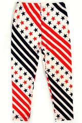 Swirling USA Flag Kids Leggings