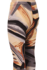 Wholesale Buttery Soft Brush Strokes Kids Leggings