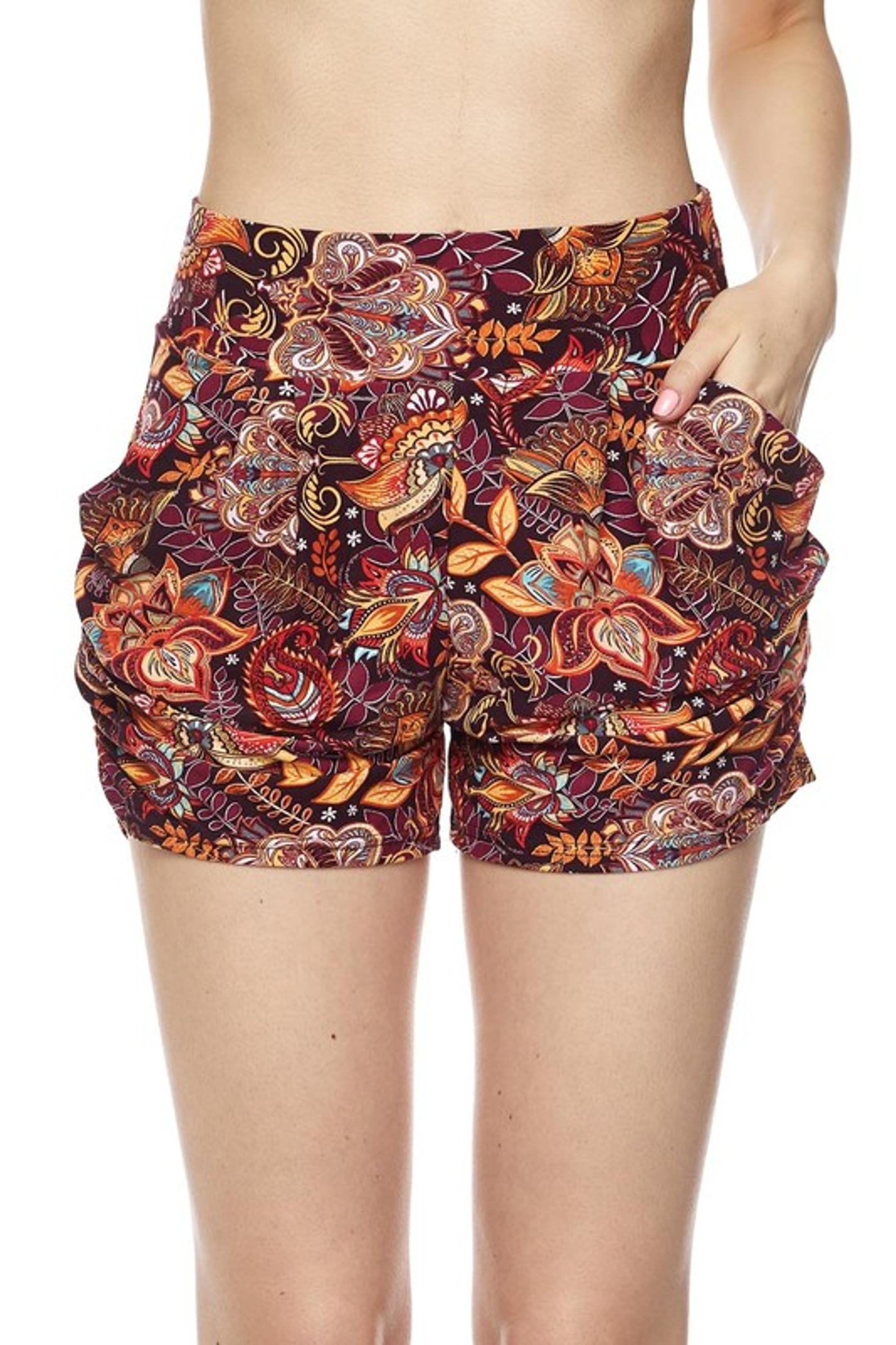 Floral Mezzanine Harem Shorts