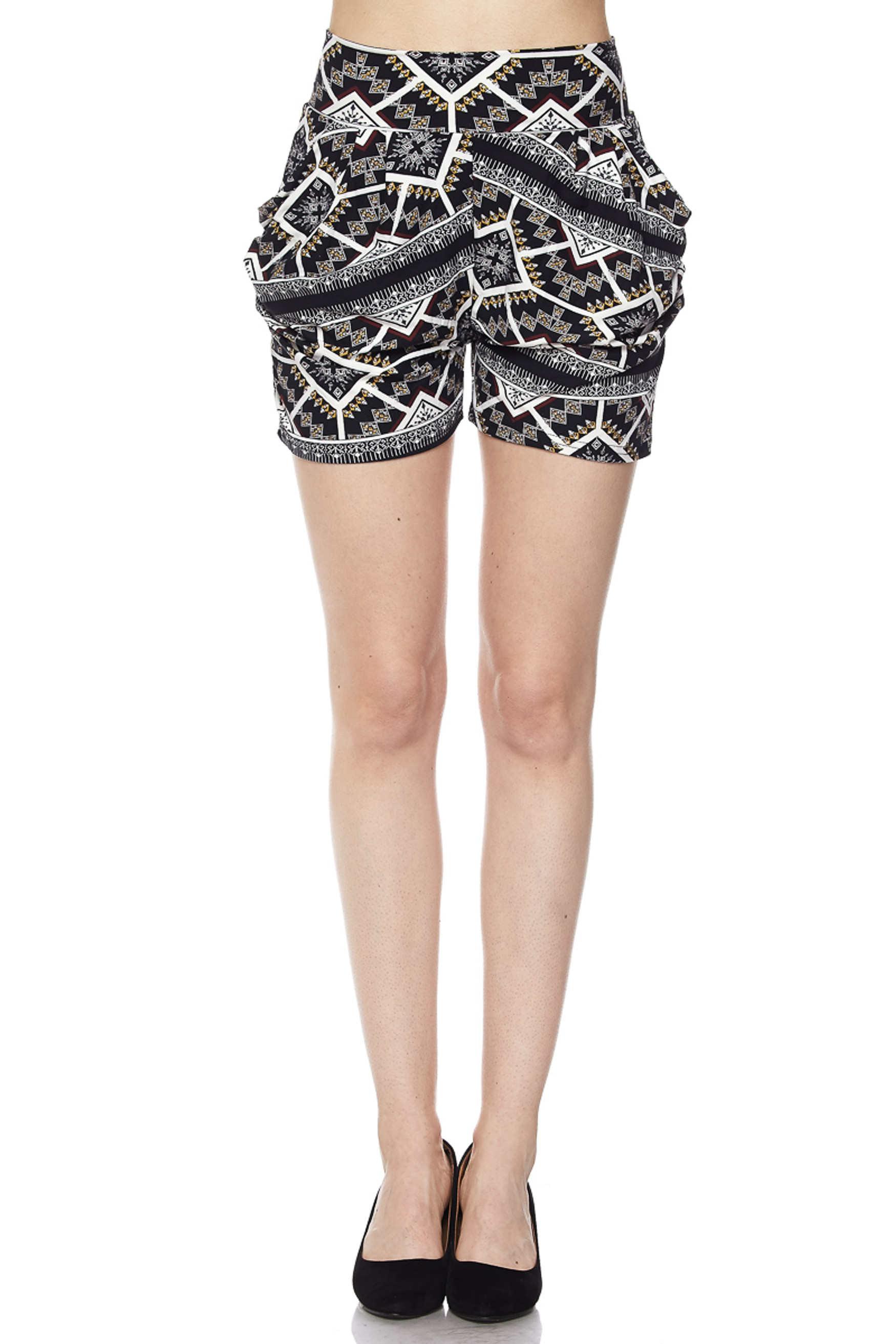 Geometric Tribal Harem Shorts