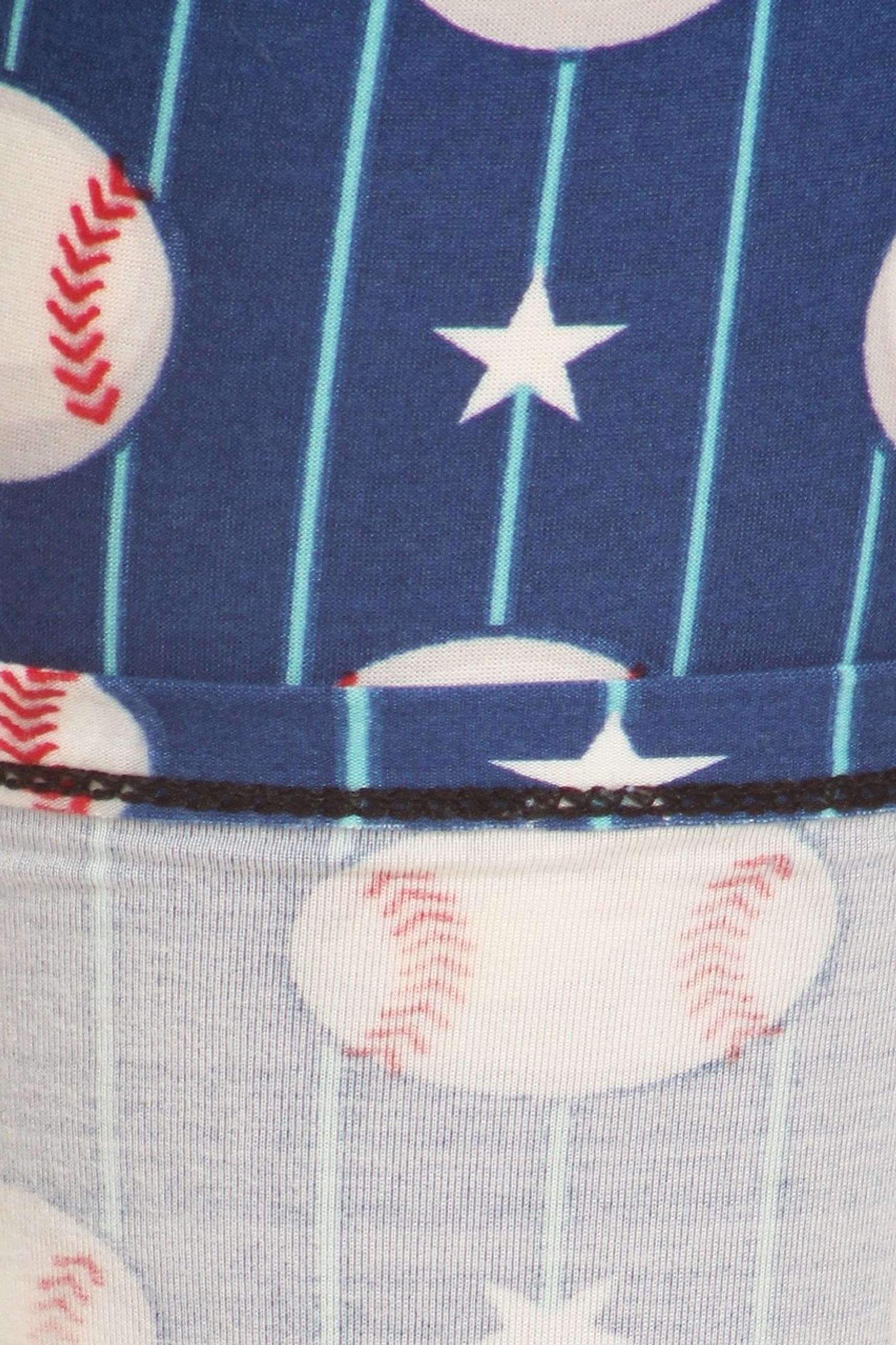 Baseball Plus Size Leggings - 3X-5X