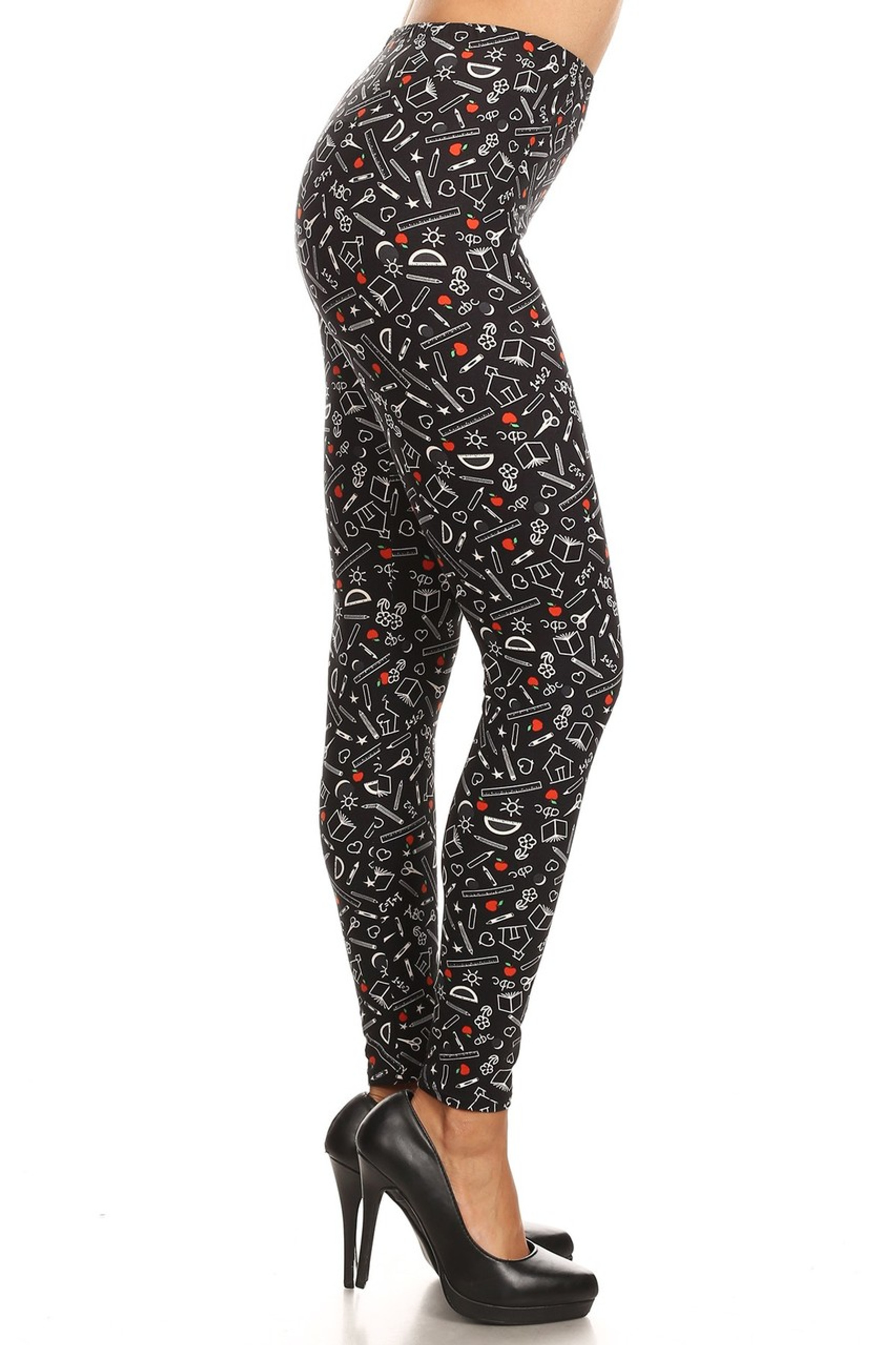 Brushed College Student Plus Size Leggings