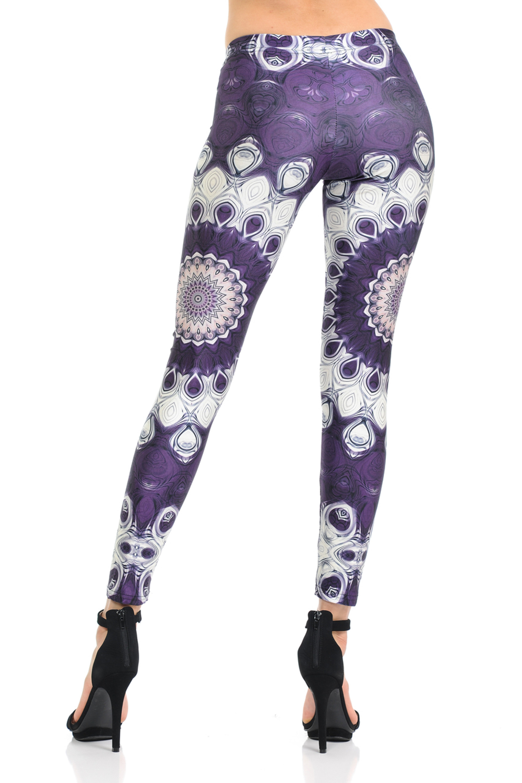 Jumbo Purple Mandala Leggings