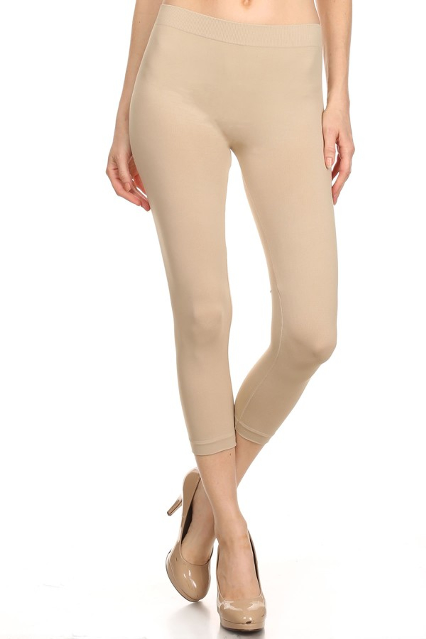 Basic Capri Length Spandex Leggings