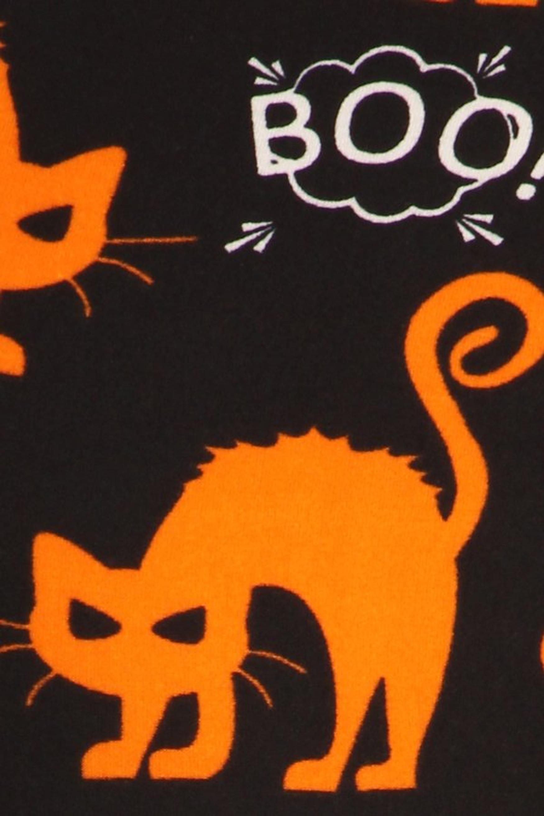 Brushed Halloween Kitty Cat Leggings