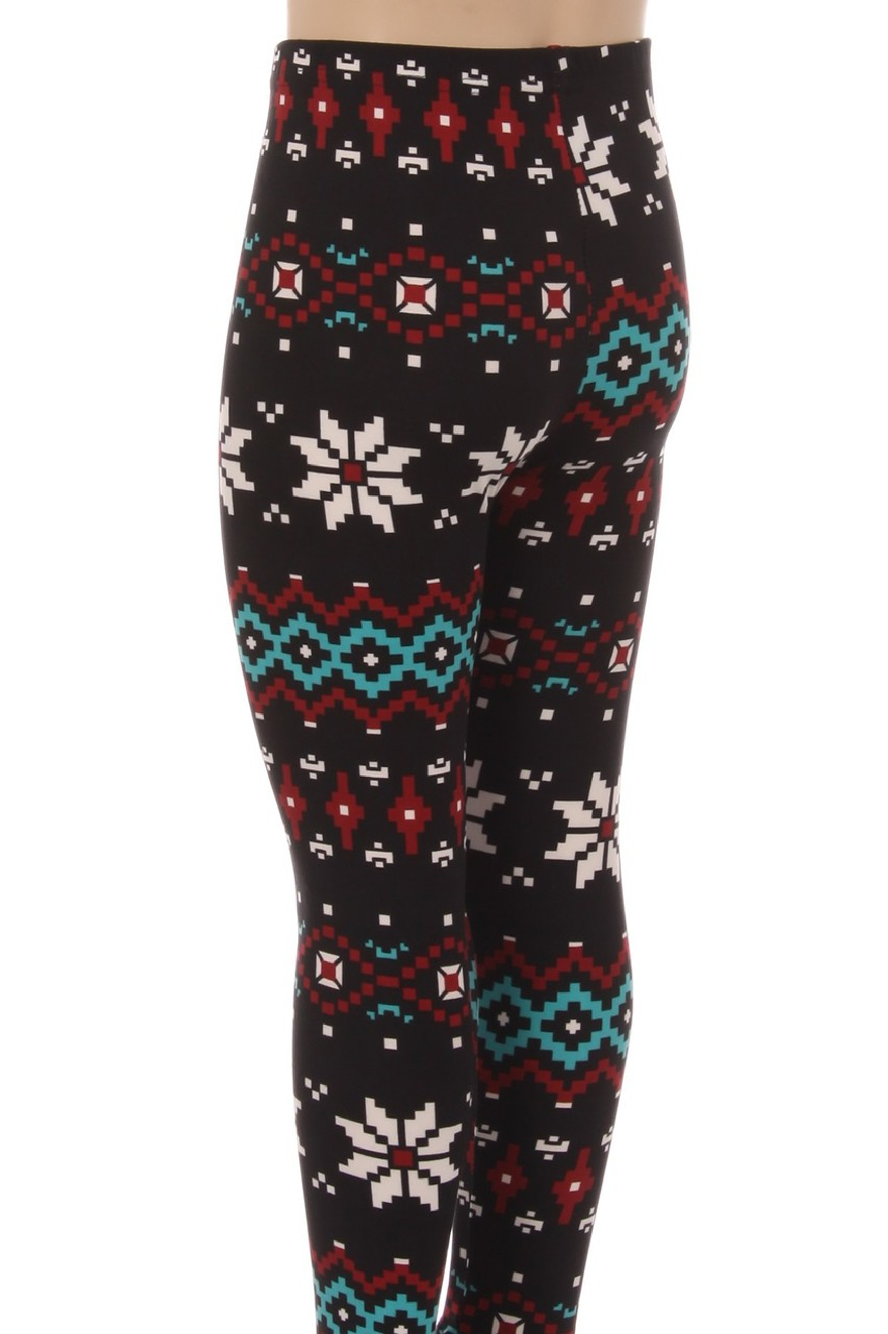 Brushed Sleigh Bell Snowflake Kids Leggings