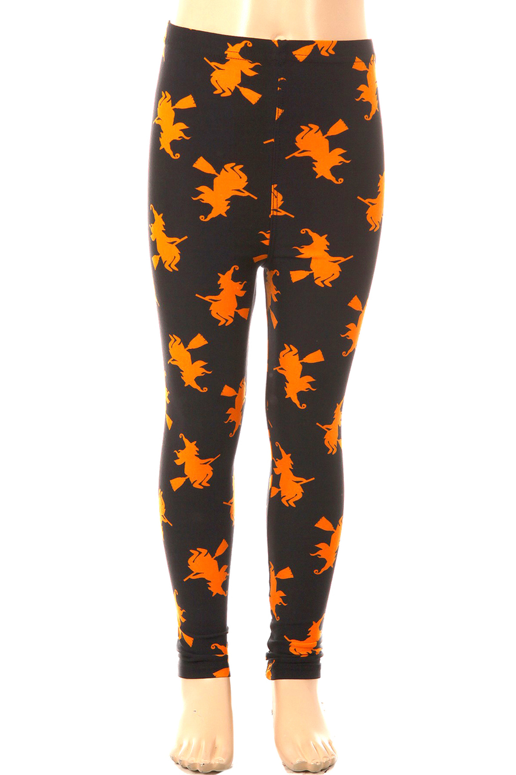 Brushed Broomstick Witches Kids Leggings