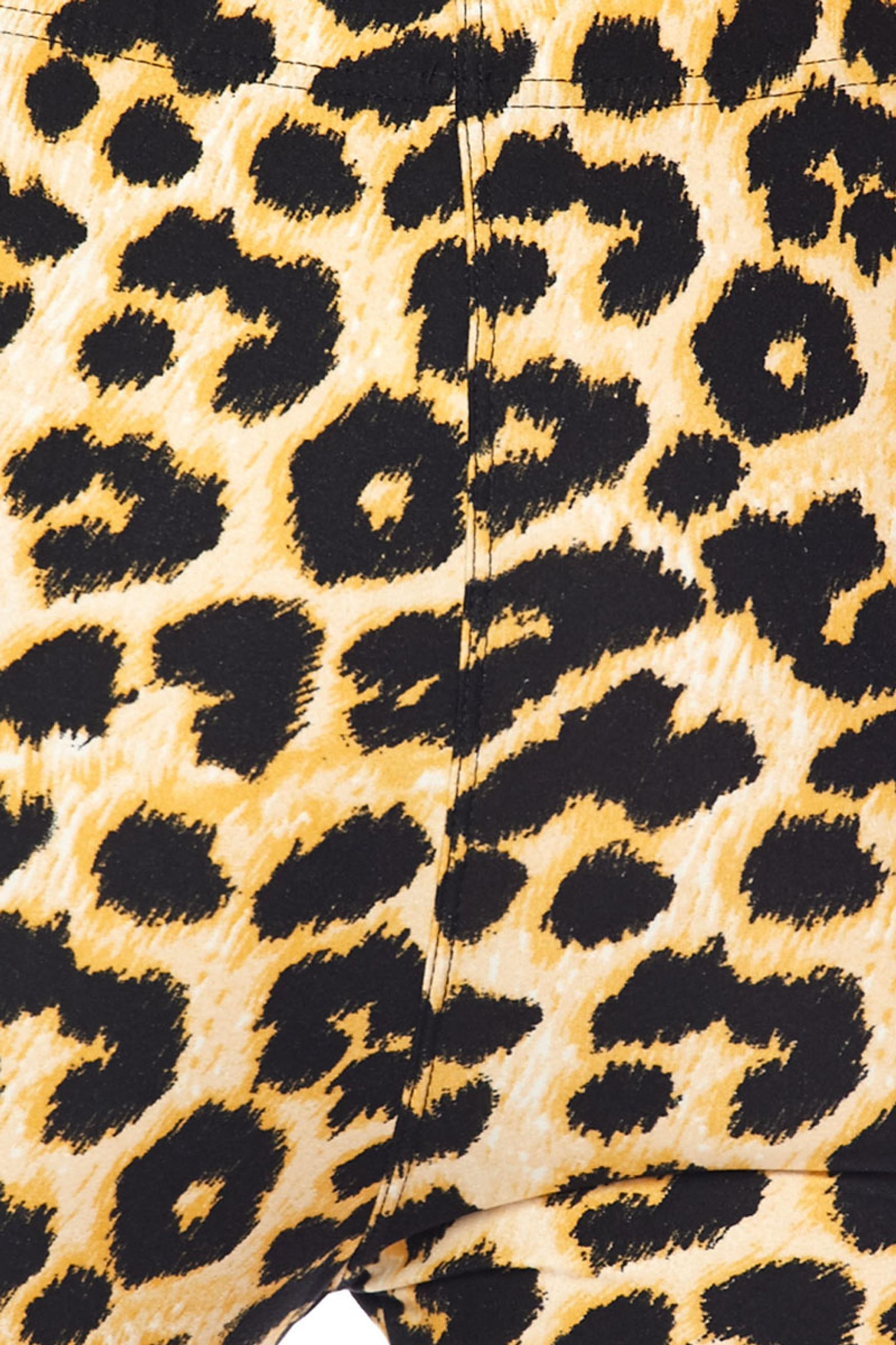 BrushedDesert Leopard Plus Size Leggings - 3X-5X