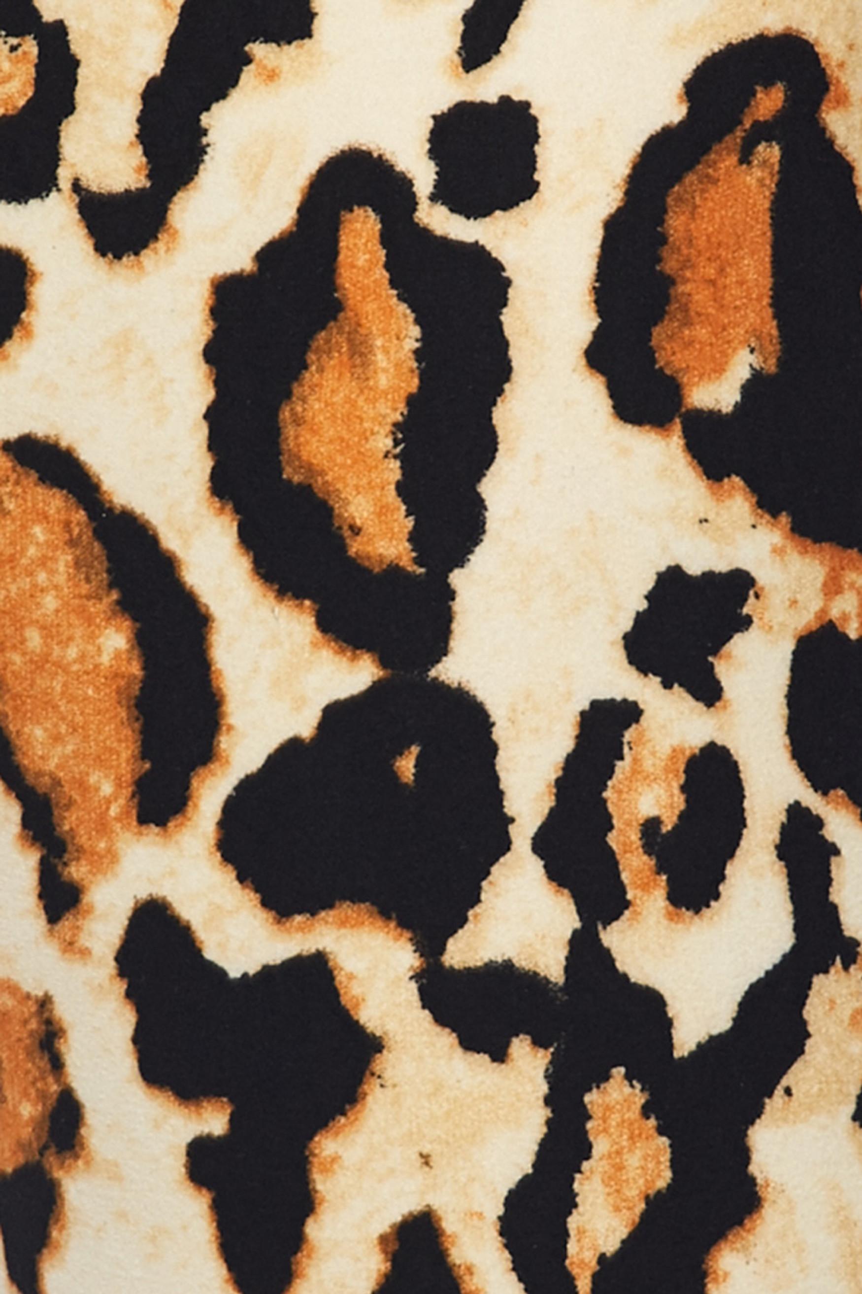 Brushed Brazilian Leopard Plus Size Leggings - 3X-5X