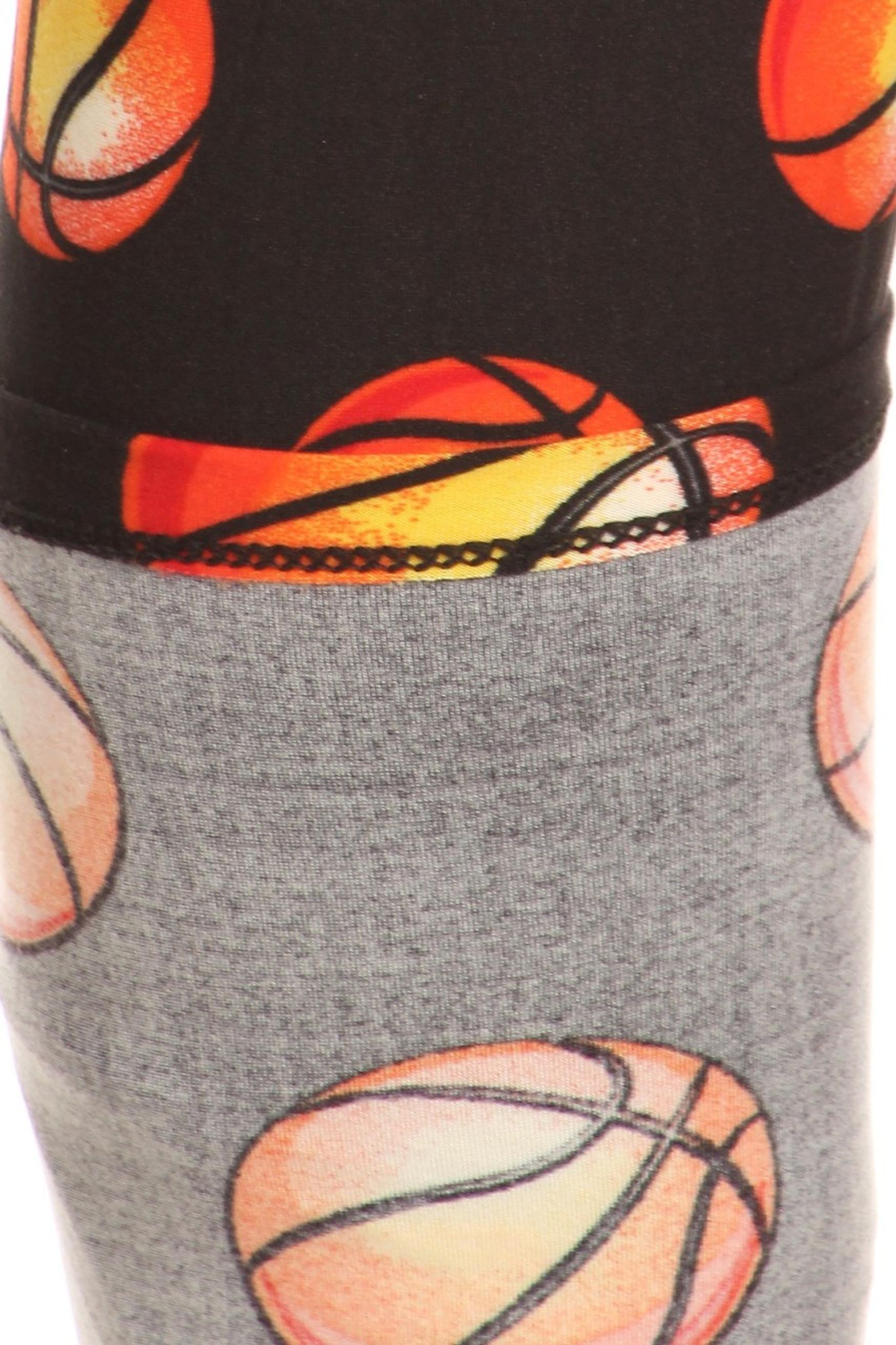 Brushed Basketball Plus Size Leggings - 3X-5X