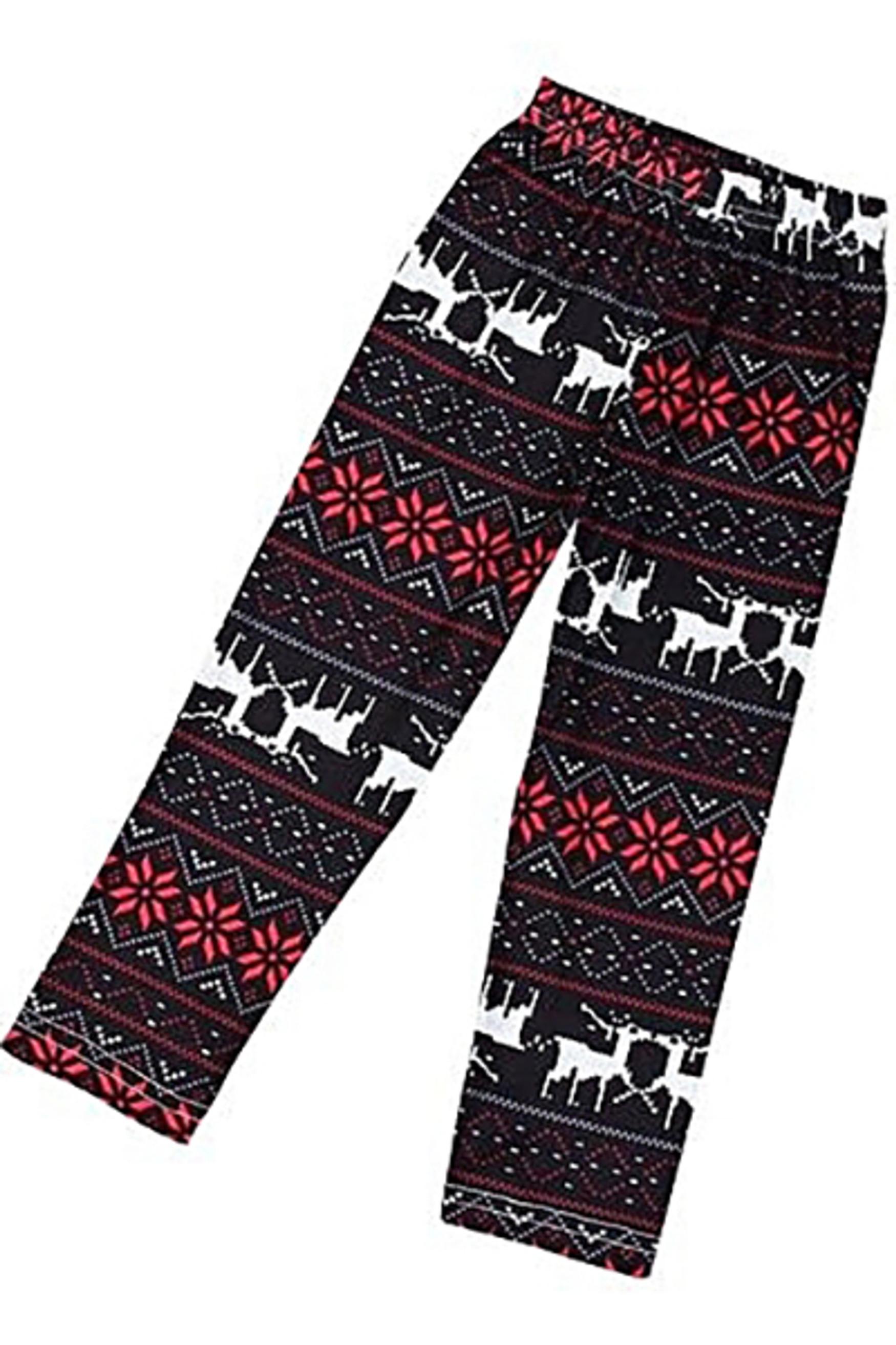 Brushed Reindeer Kids Leggings