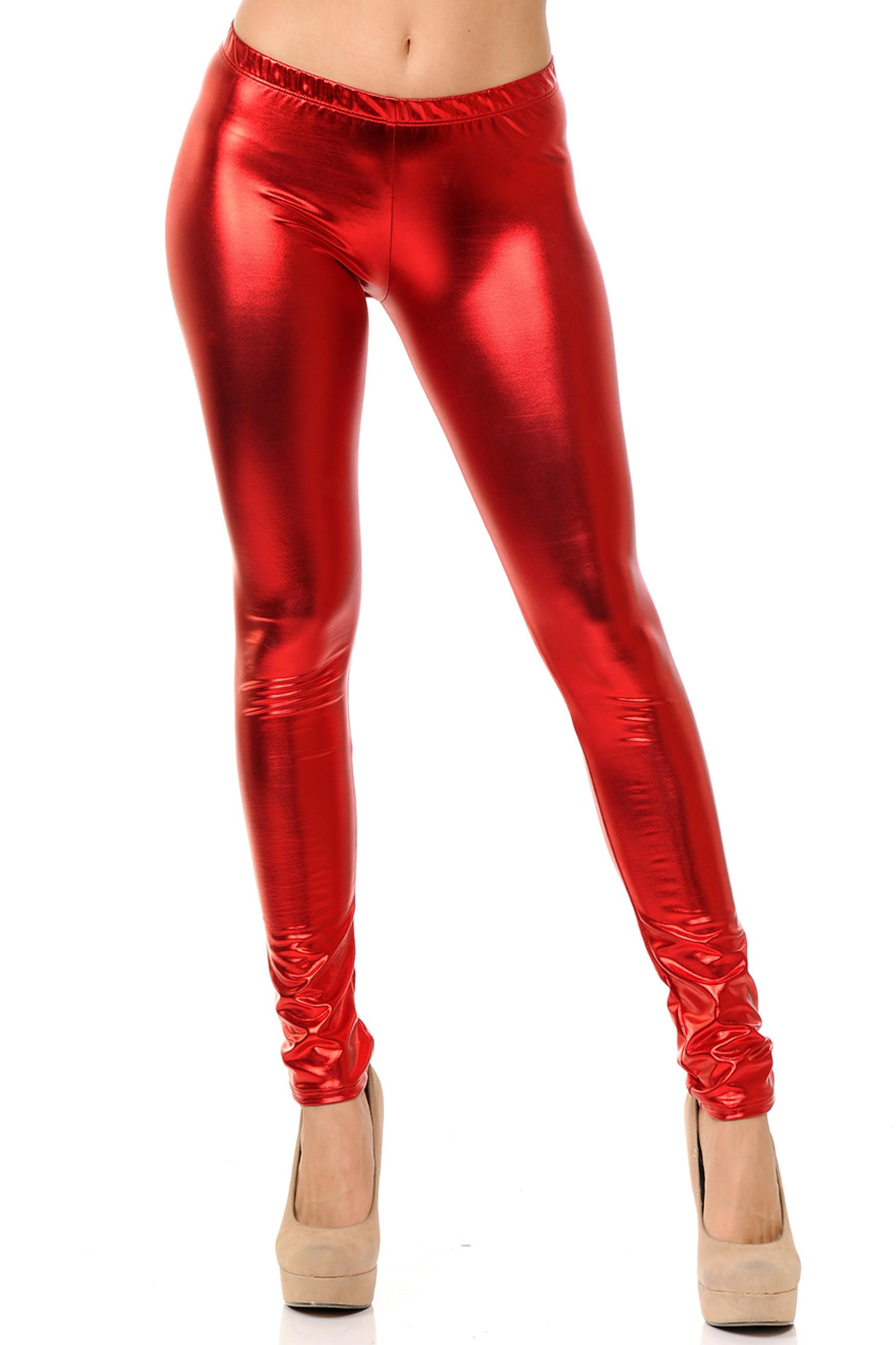 Colorful Metallic Leggings