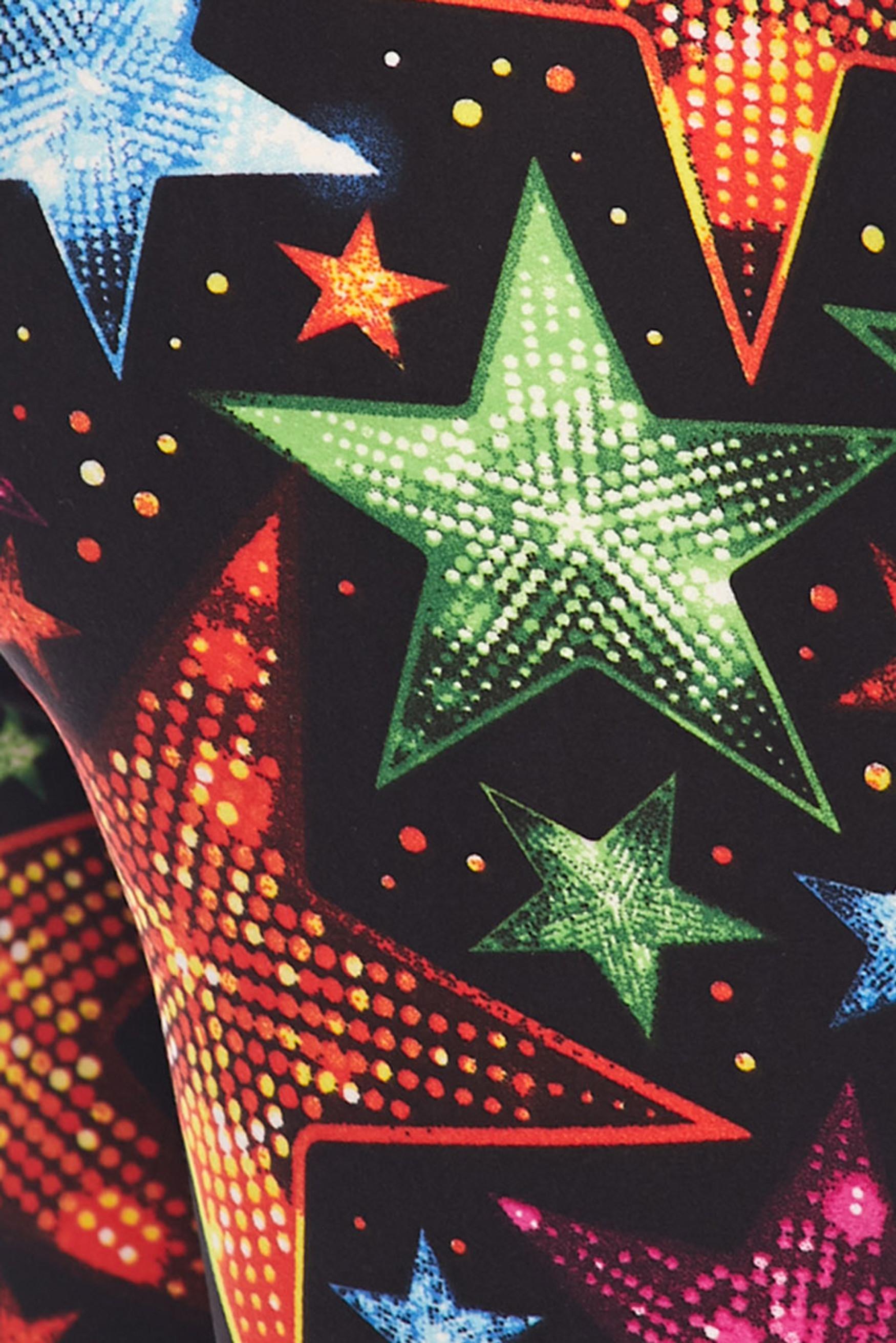 Brushed Glitter Star Leggings
