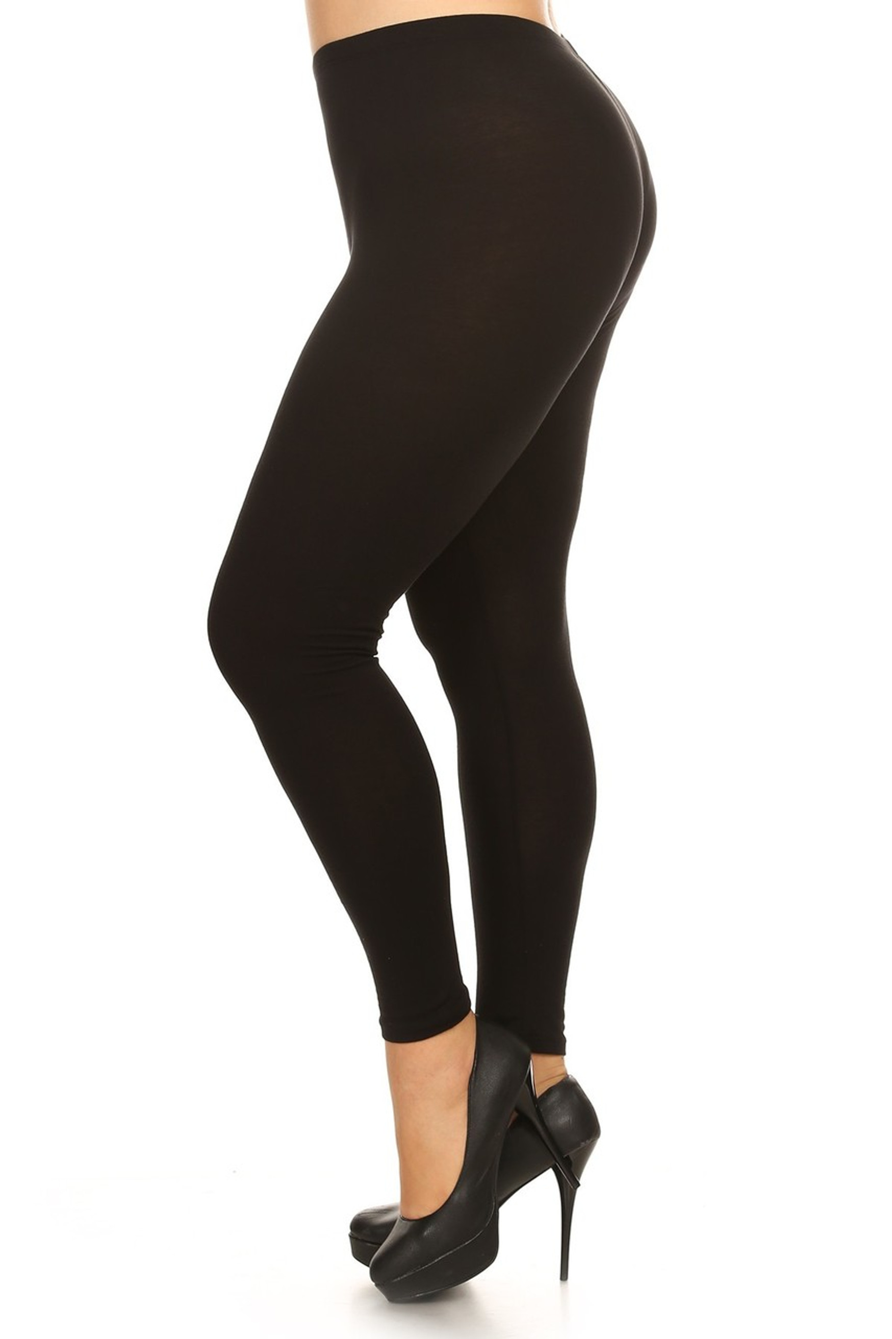 Brushed Buttery Soft Basic Solid Leggings Plus Size