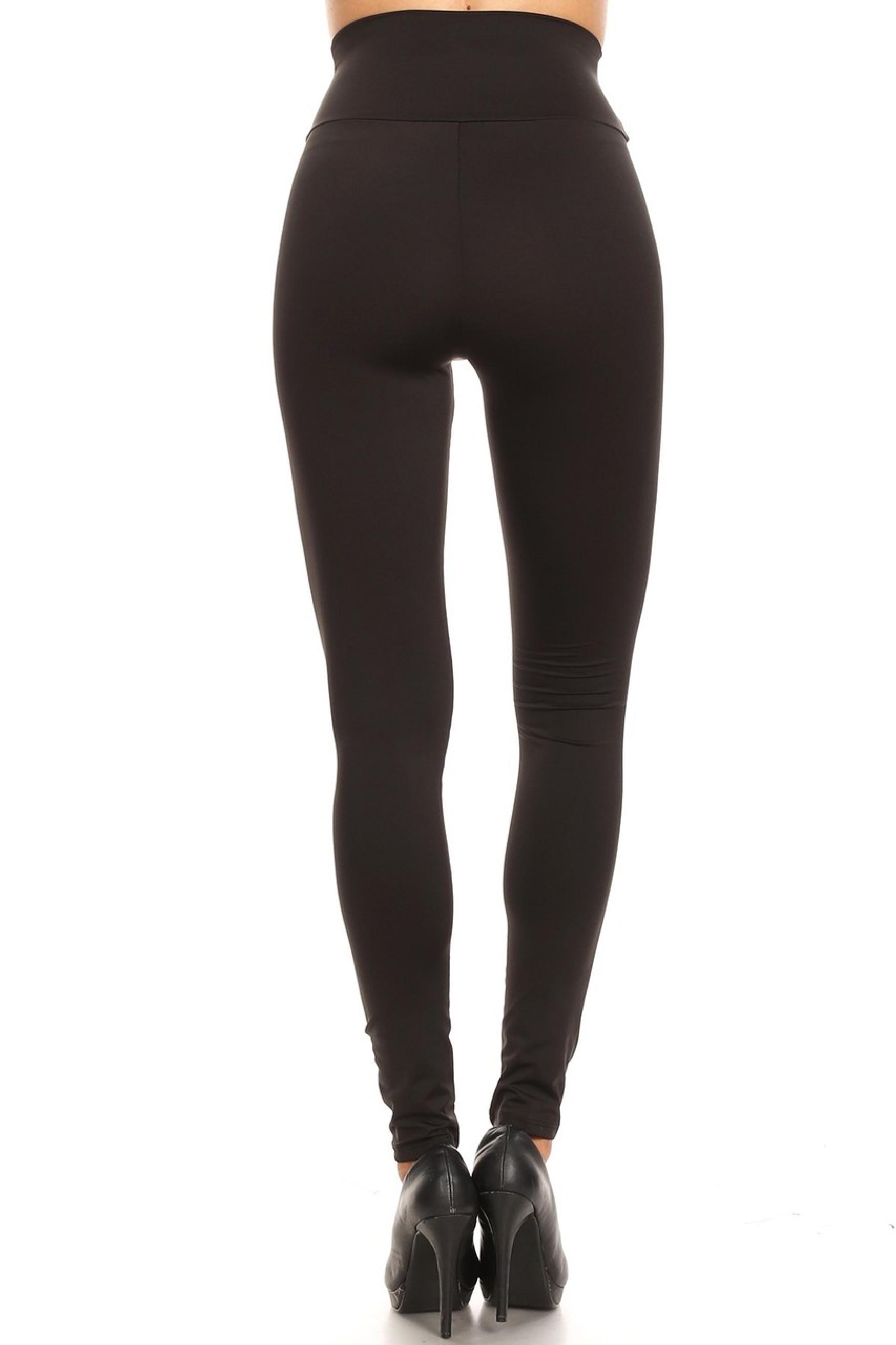 High Waisted Premium Basic Solid Leggings