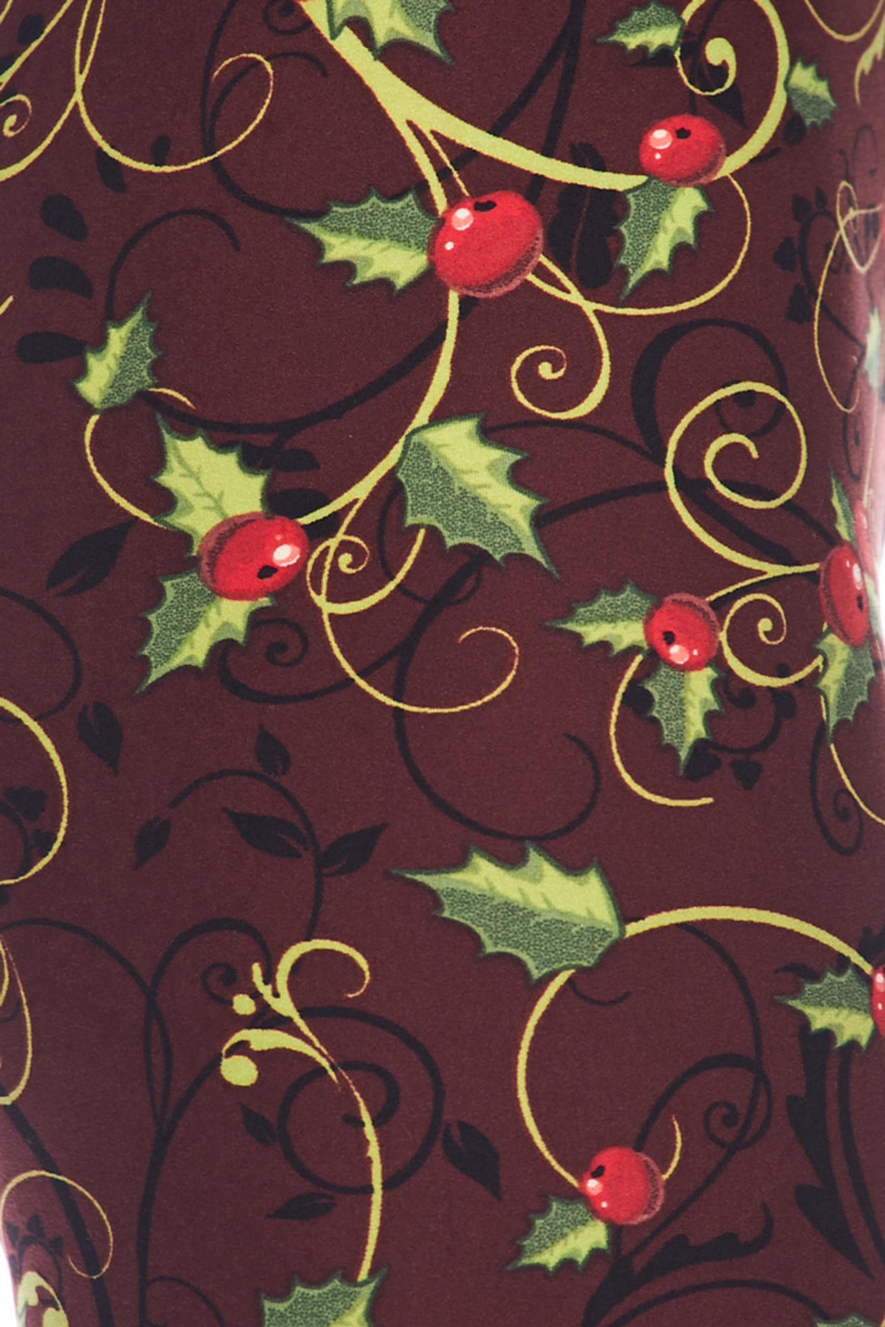 Christmas Holly Kids Leggings
