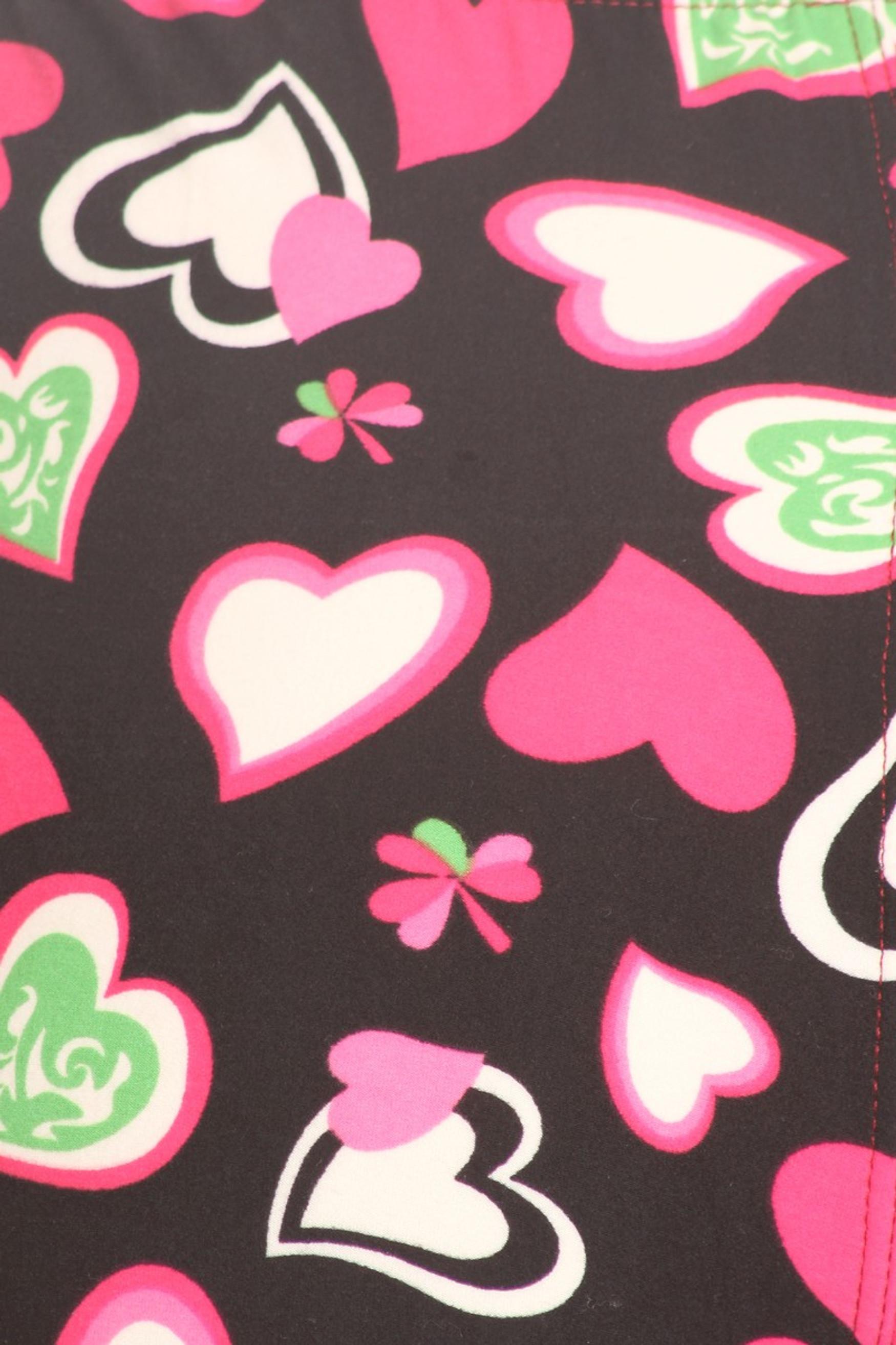 Brushed Cute Valentine Hearts Leggings