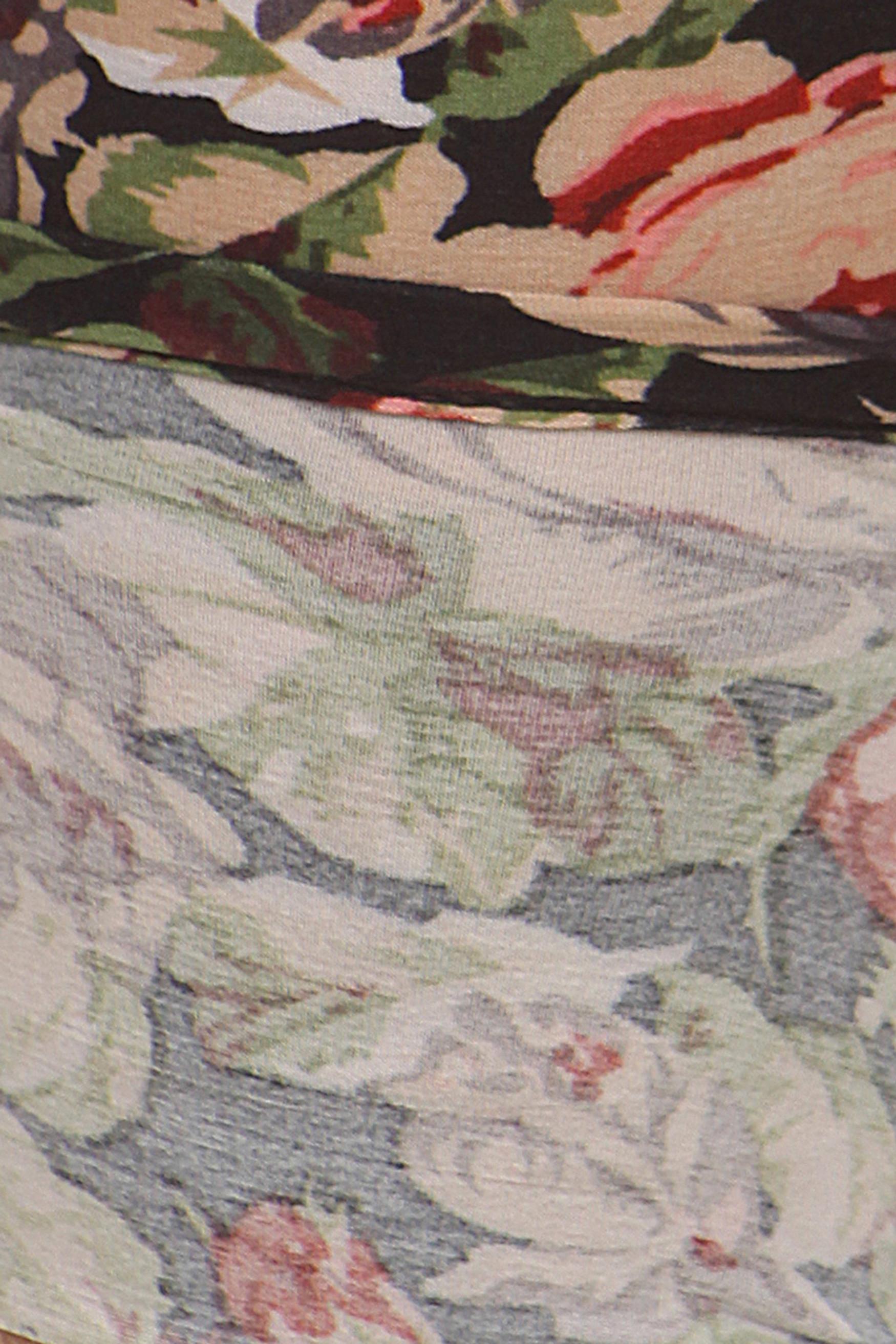 Close up fabric image of Brushed Plus Size Vintage Floral Leggings