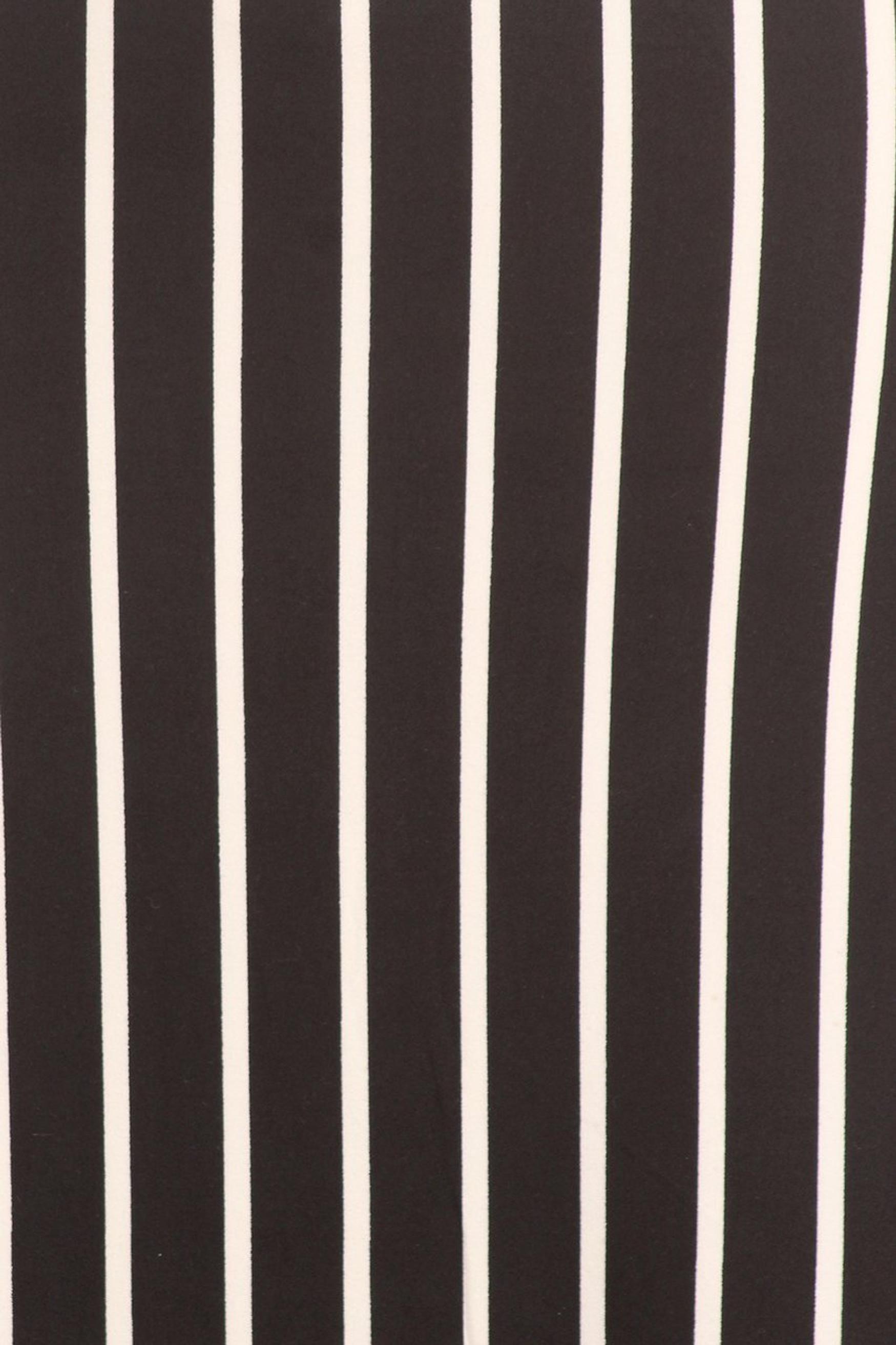 Brushed Black Pinstripe Maxi Skirt