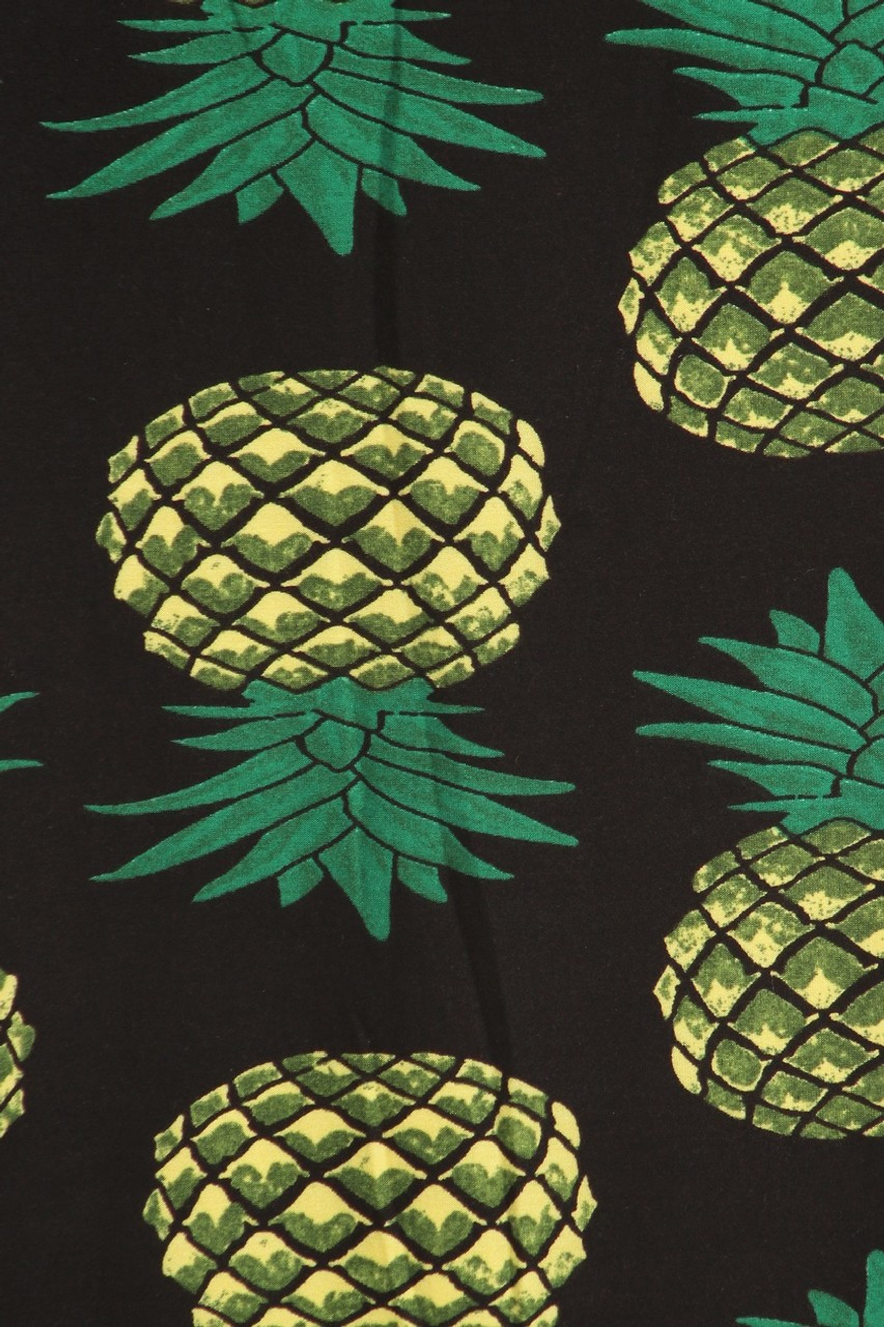 Brushed Green Pineapple Maxi Skirt