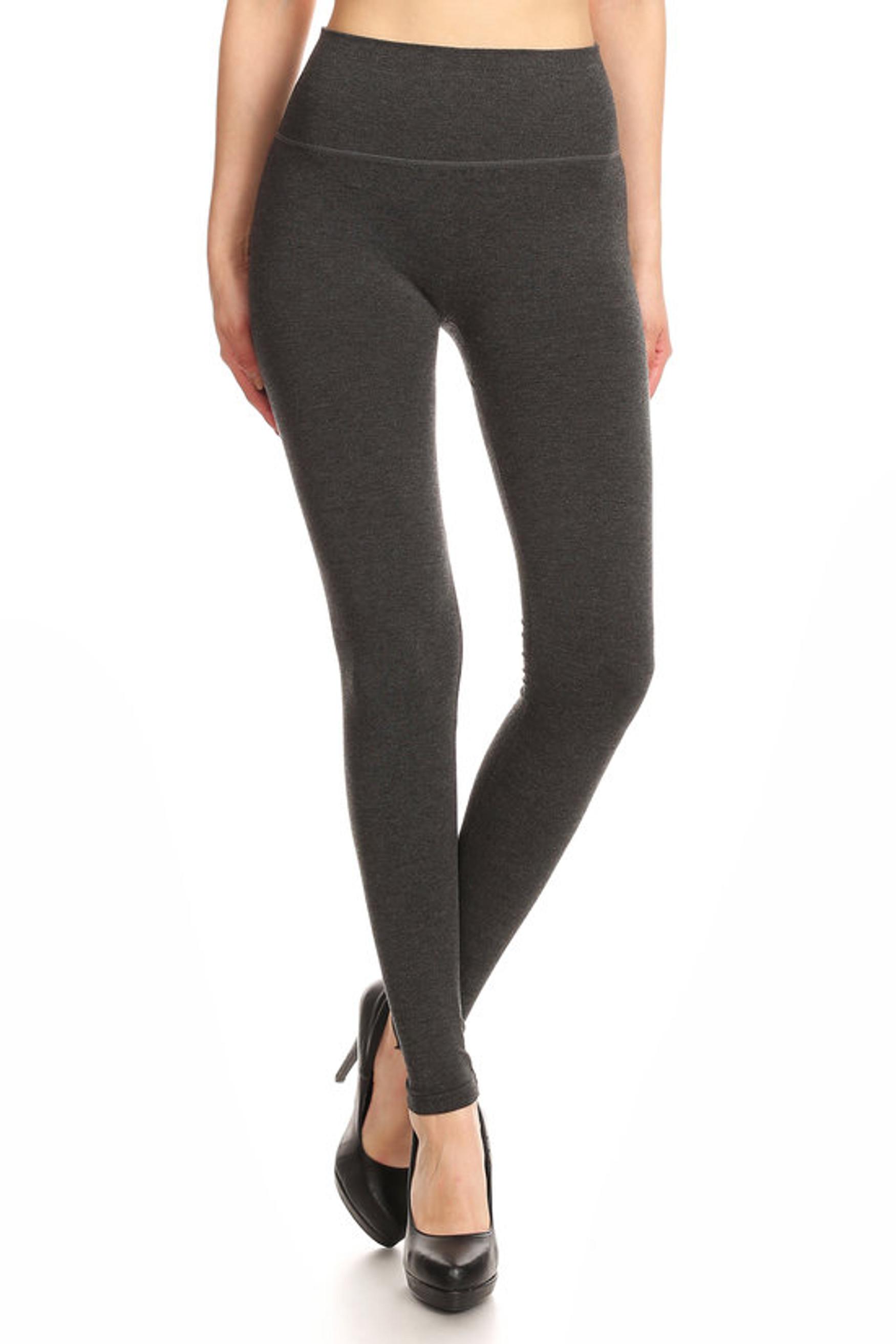 Charcoal Premium High Waisted Basic Leggings