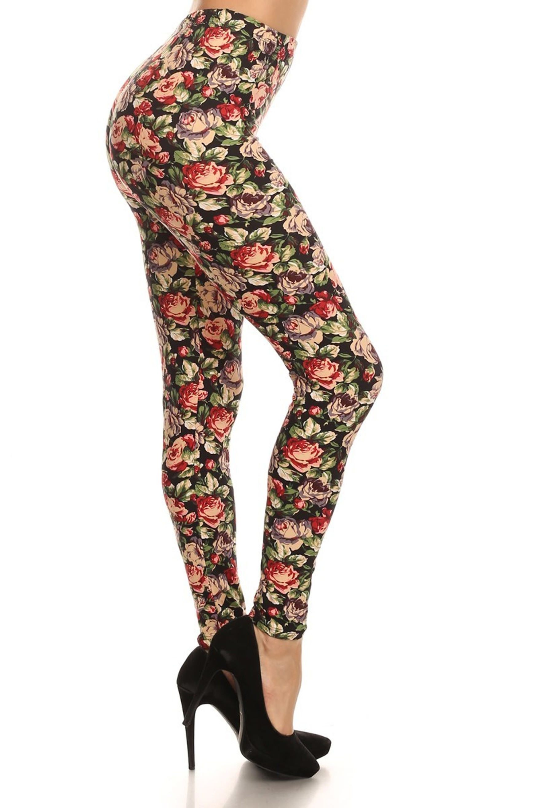 Brushed Vintage Floral Leggings