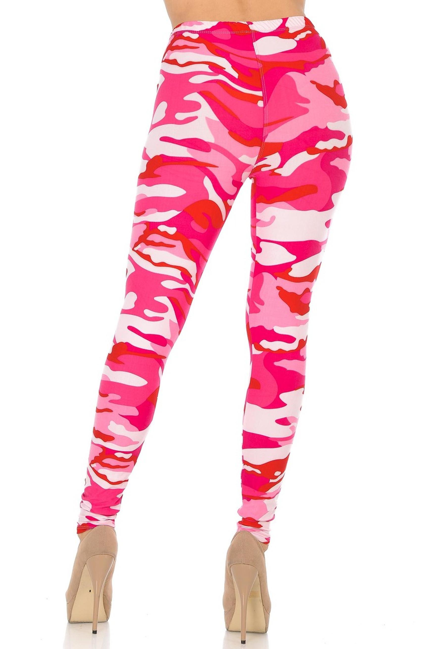 Brushed Pink Camouflage Leggings