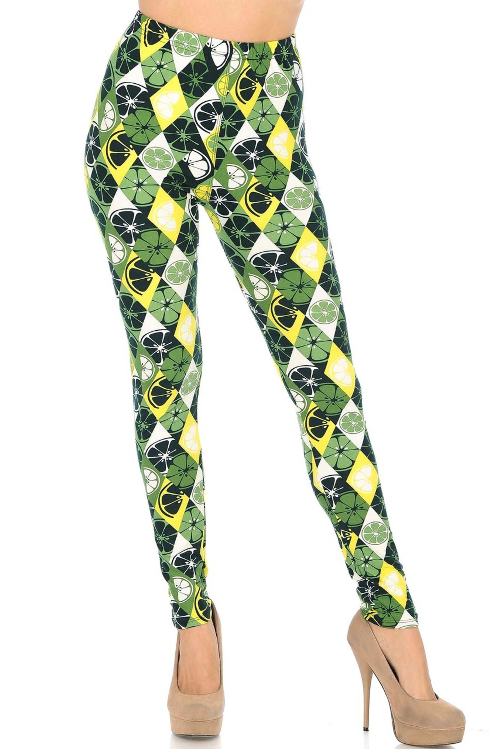 Brushed Luck of the Irish Limes Leggings