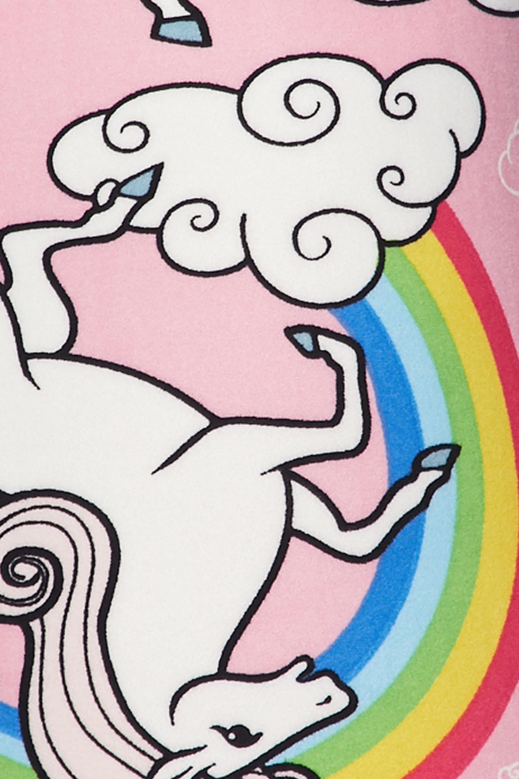 Brushed Pink Rainbow Unicorn Plus Size Capris