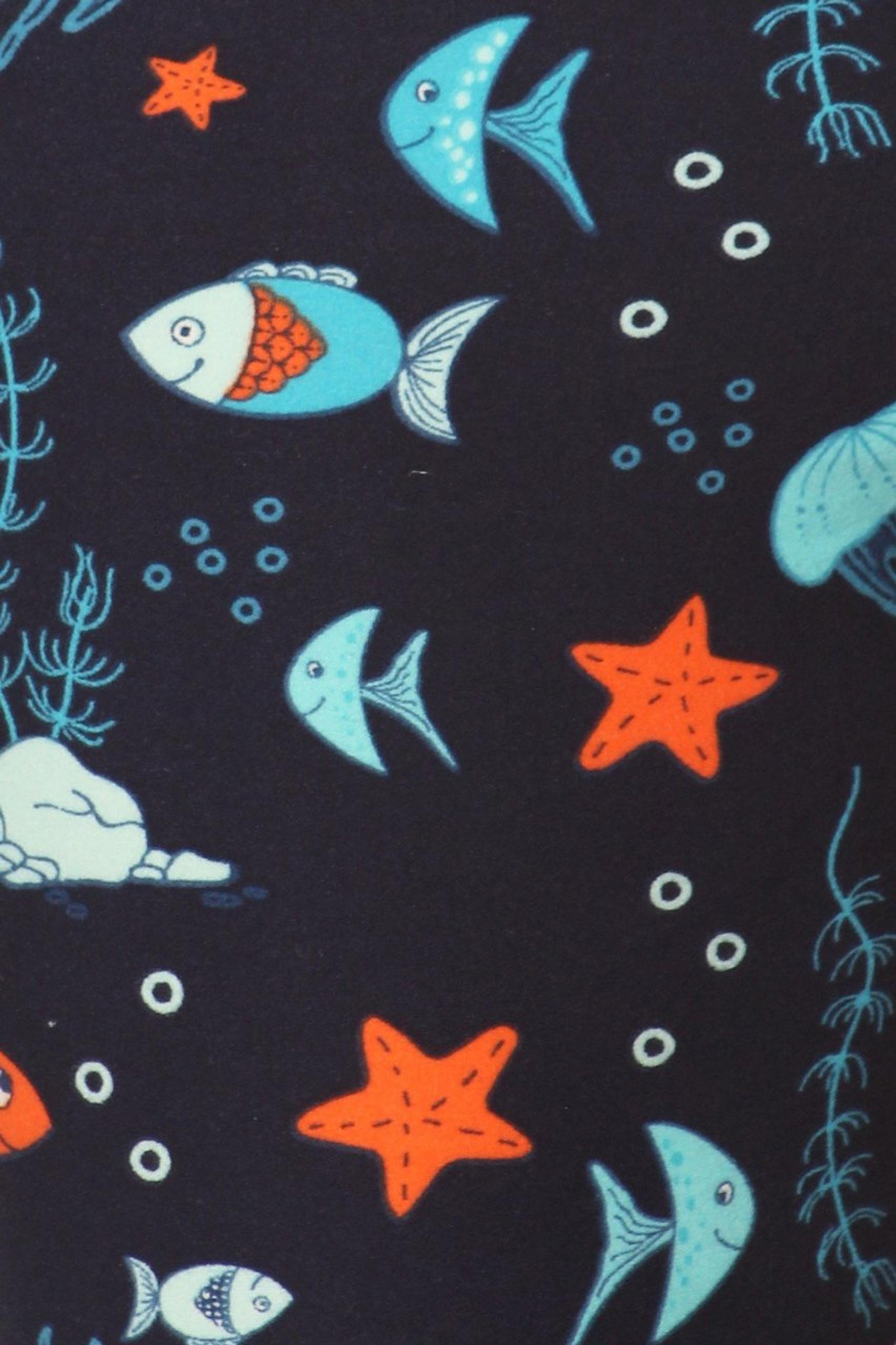 Brushed Oceans Alive Plus Size Leggings