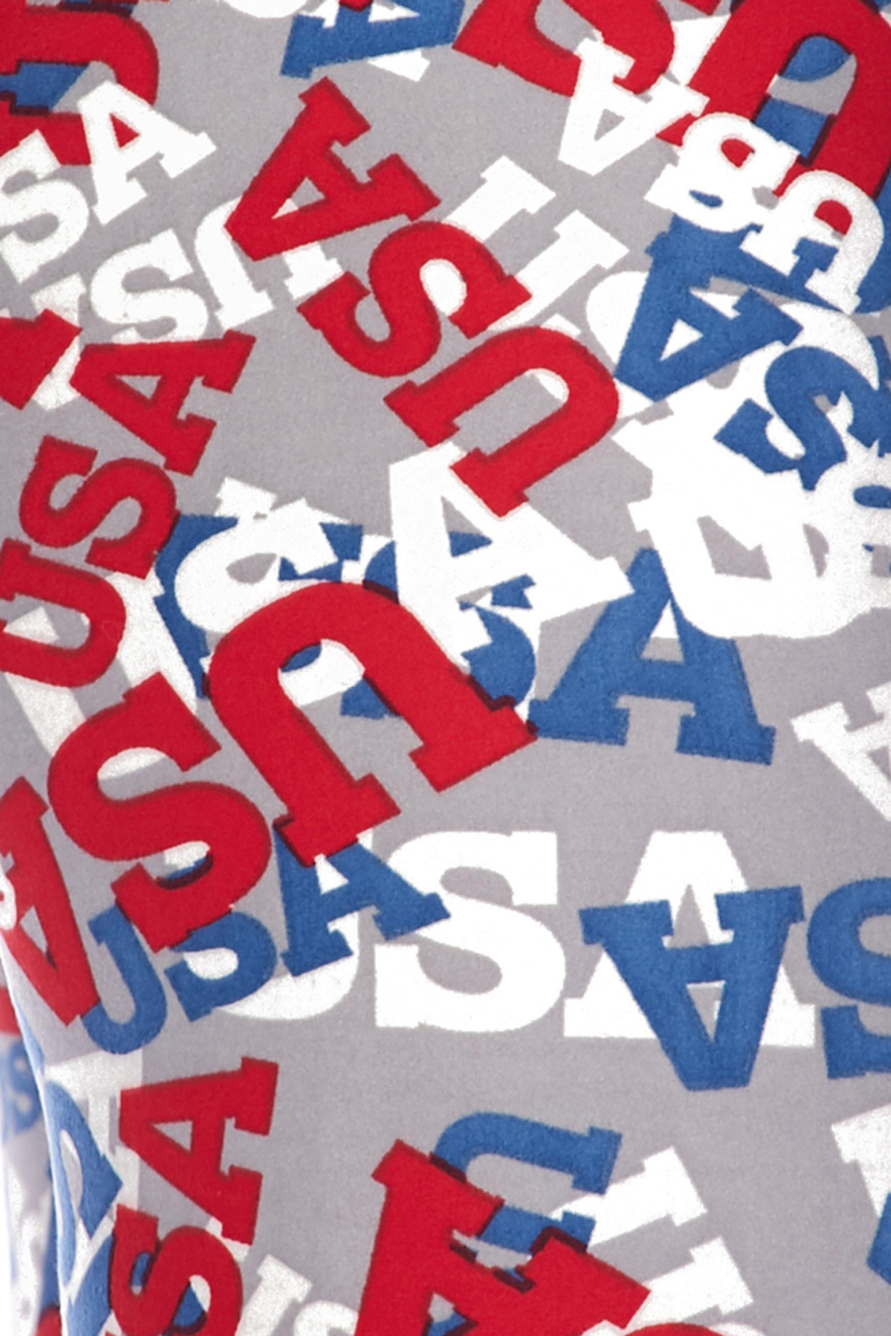 Brushed All Over USA Kids Leggings
