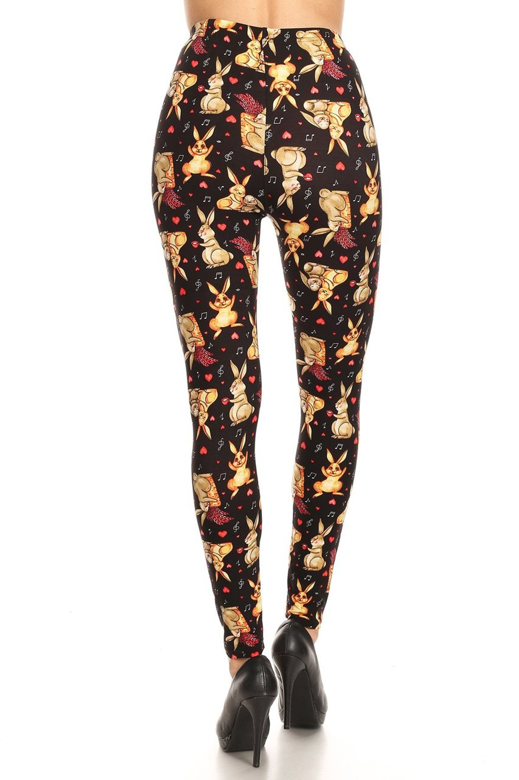 Brushed Easter Bunny Plus Size Leggings - 3X-5X