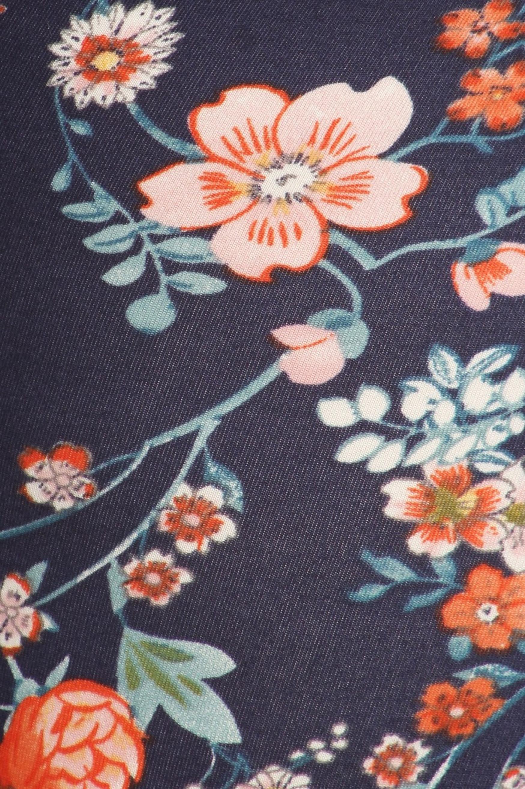 Brushed Spring Asian Floral Plus Size Leggings