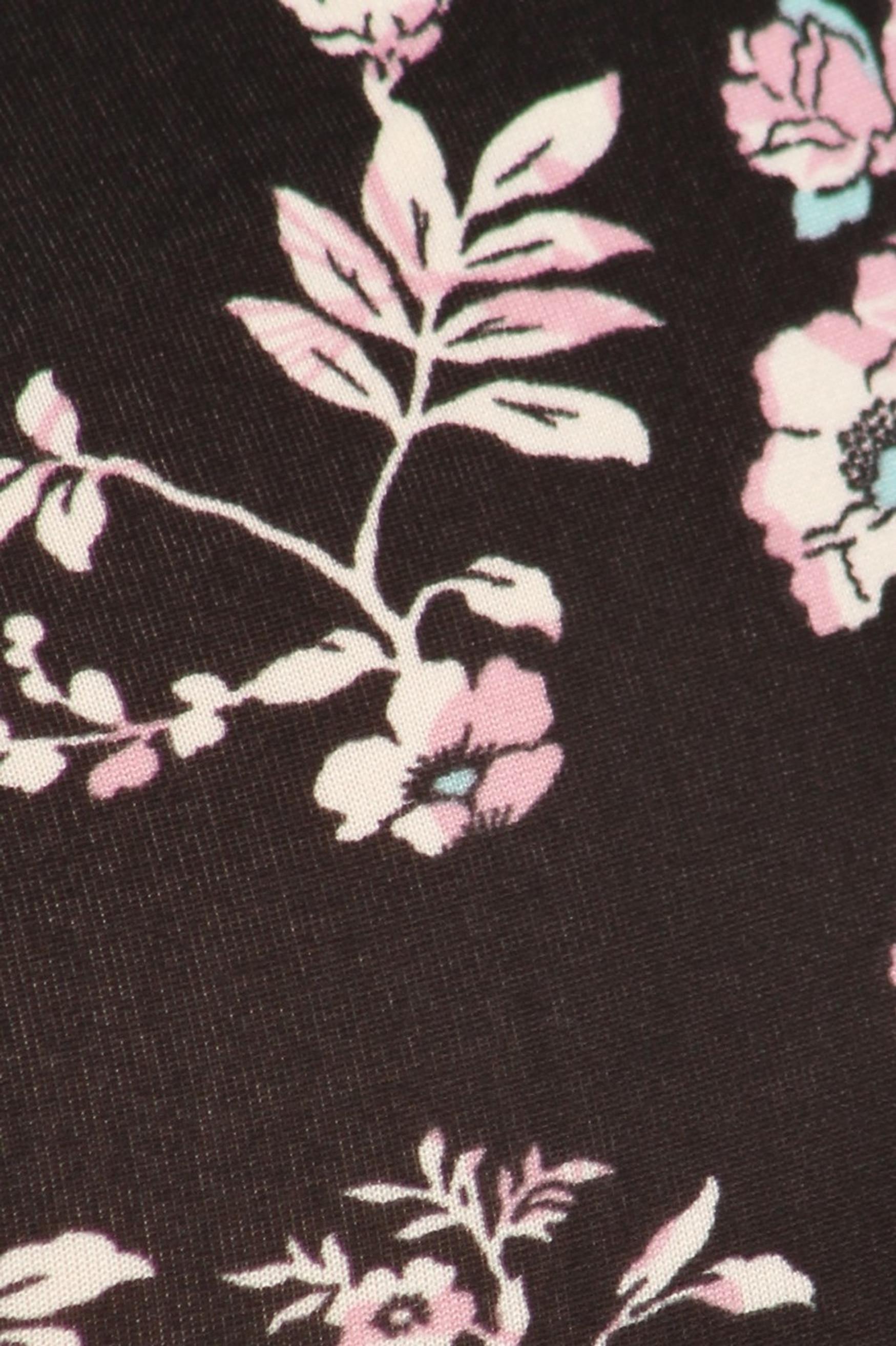 Brushed Ebony Spring Floral Plus Size Leggings