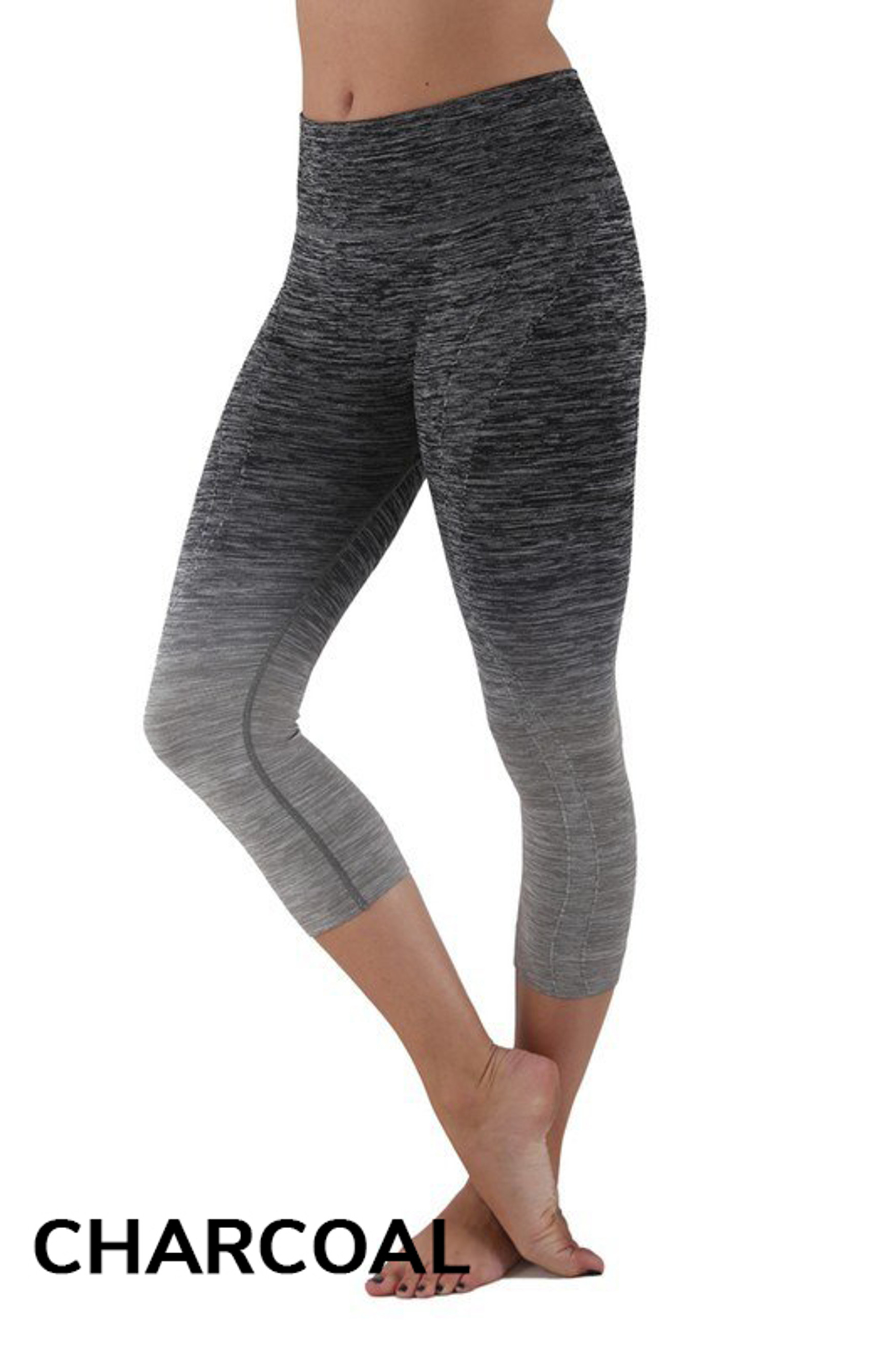 Charcoal Ombre Fusion Workout Plus Size Capris