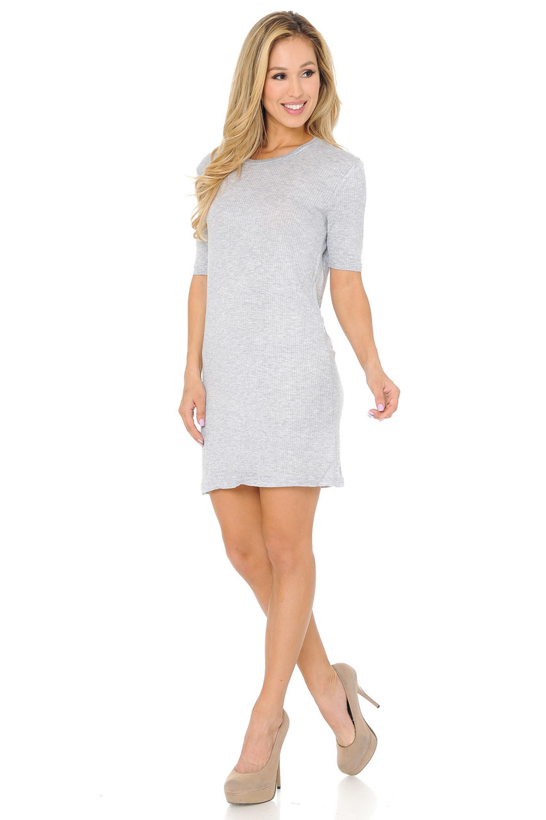 Lightweight Rayon Any Day Solid Basic Midi Dress