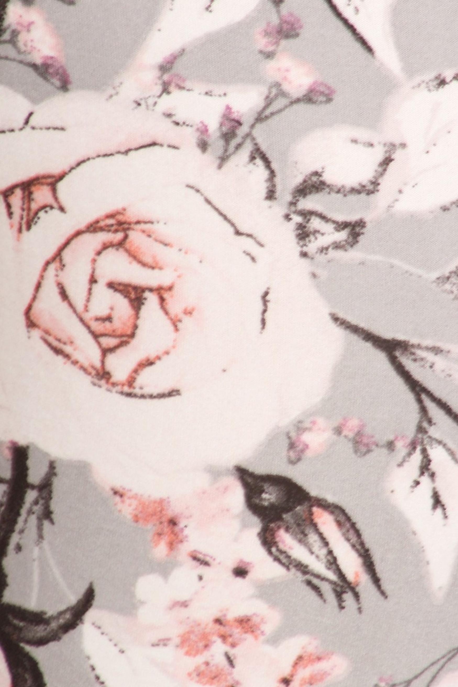 Brushed Dusky Charcoal Floral High Waist Leggings