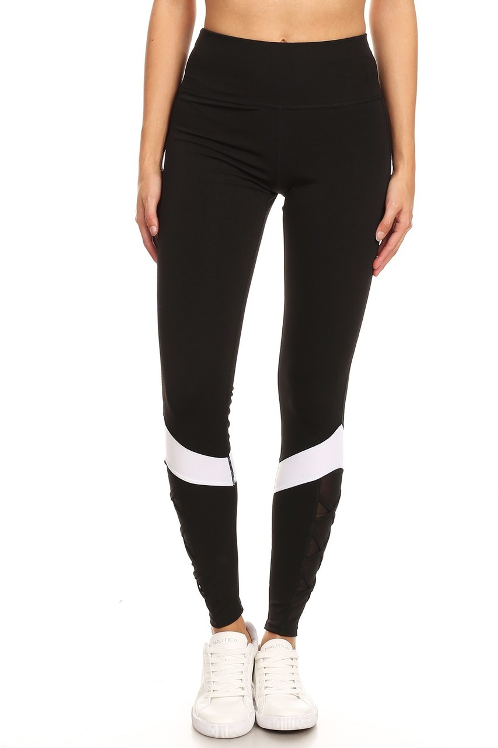 Sportsplex Ankle Crisscross Workout Leggings