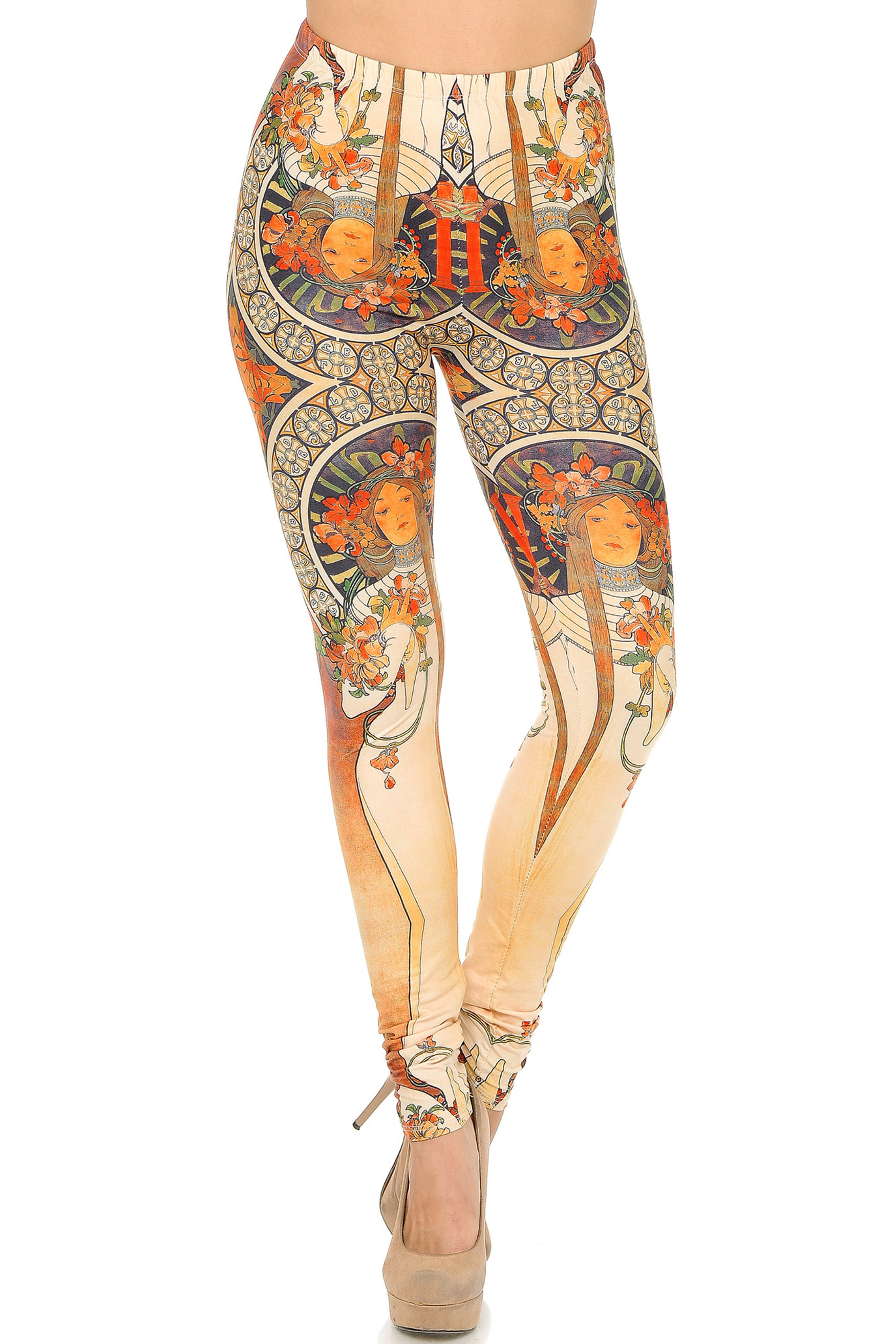Front side  image of Double Soft Brushed Magical Dryad Leggings
