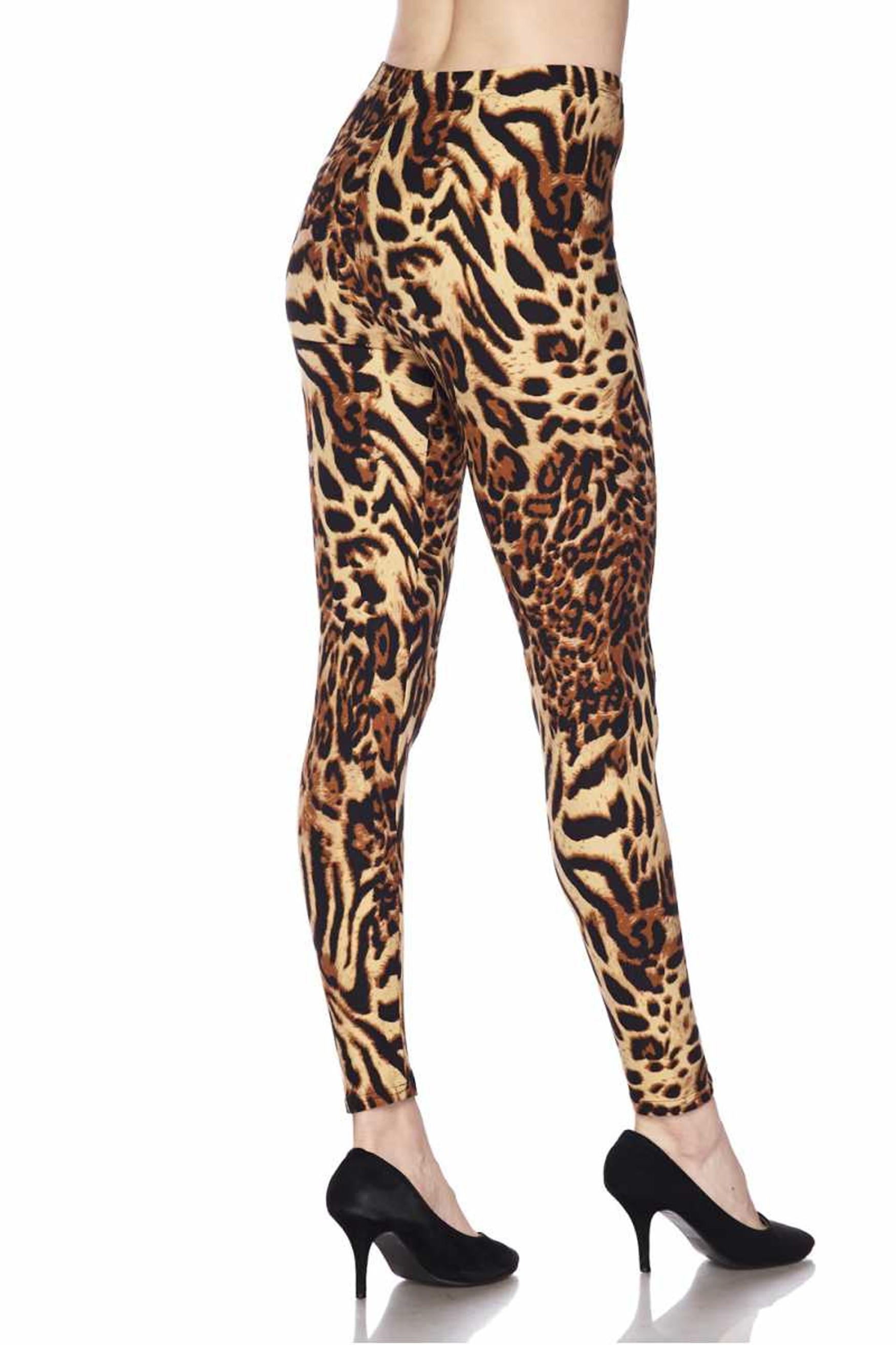 Soft Brushed Predator Leopard Leggings