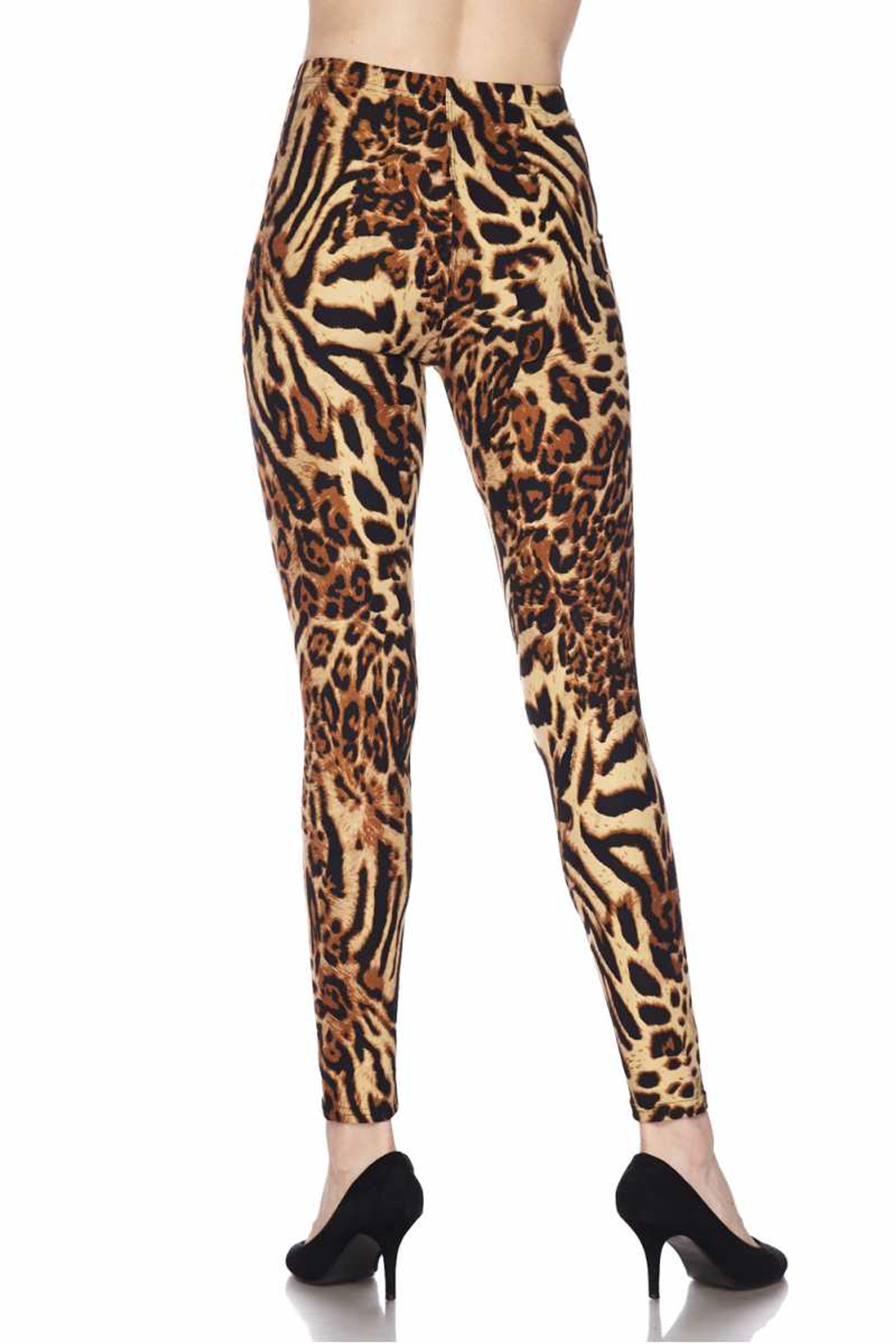Soft Brushed Predator Leopard Plus Size Leggings