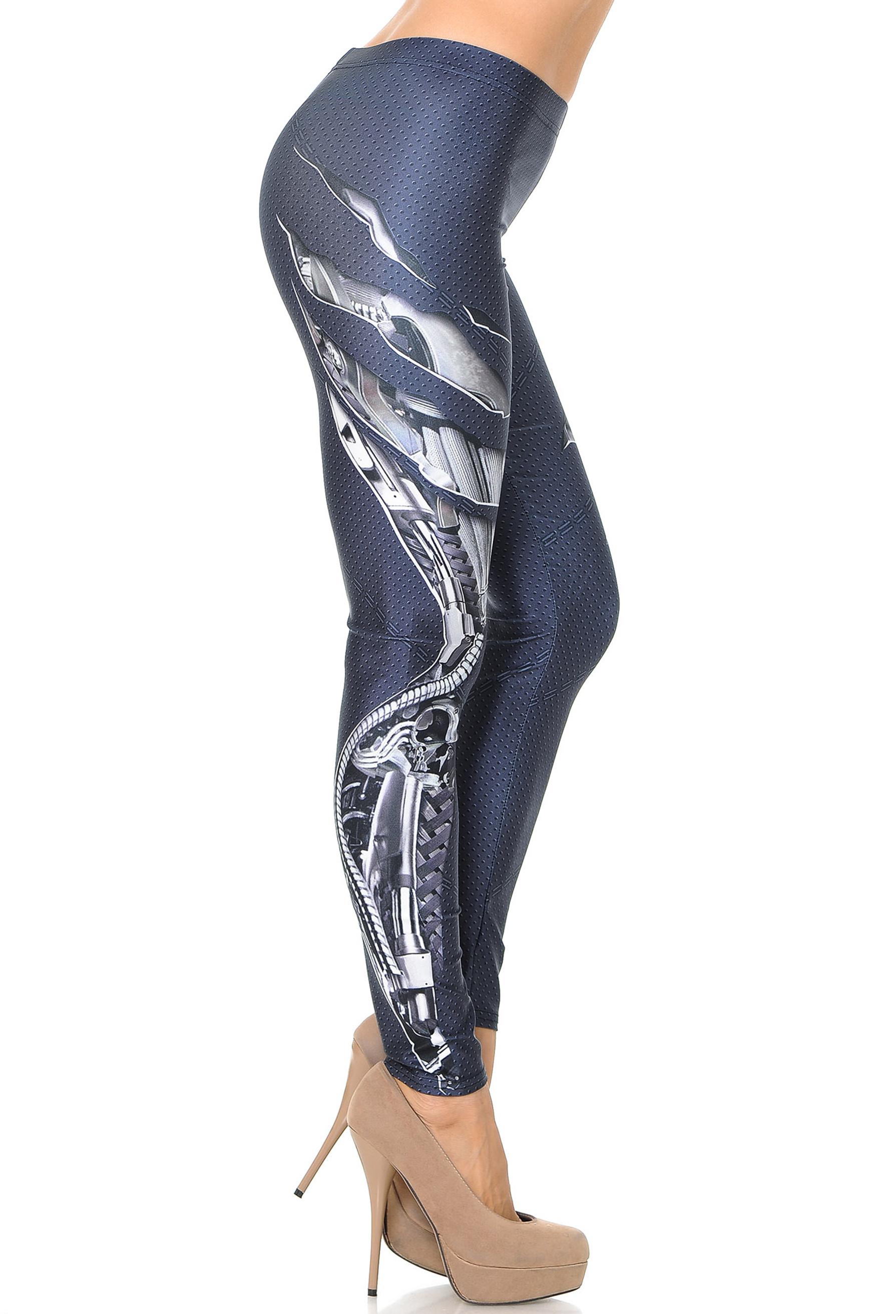 Premium Graphic Mechanized Soldier Leggings