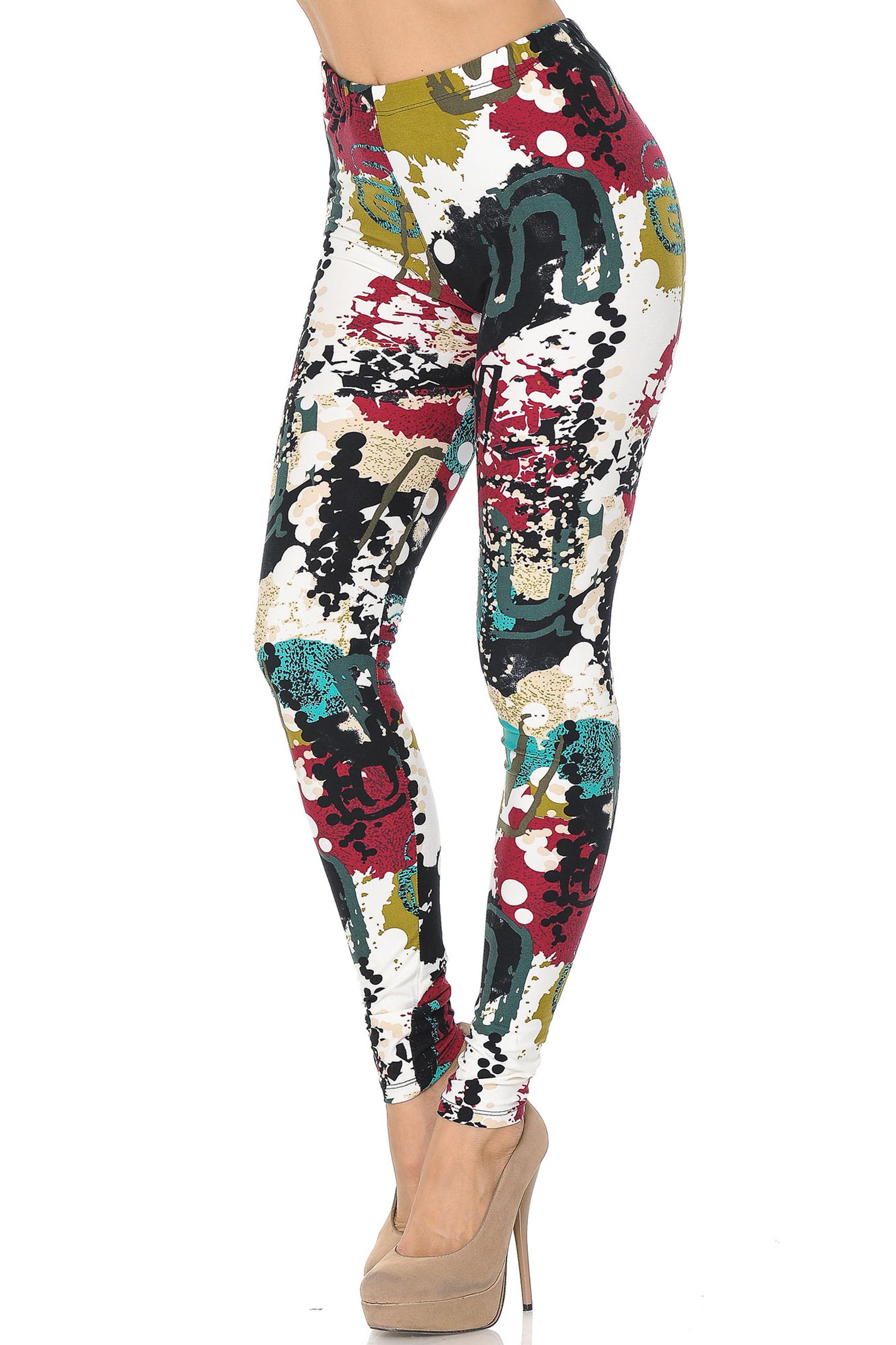 Soft Brushed Summer Picasso Leggings