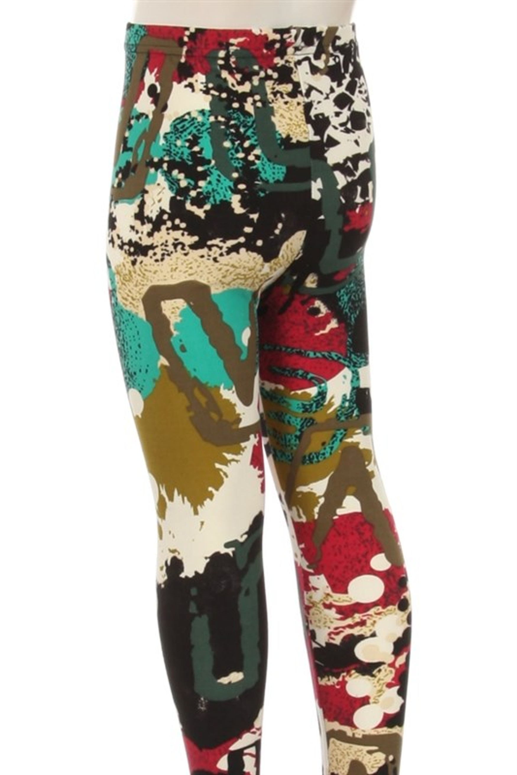 Soft Brushed Picasso in the Park Kid's Leggings