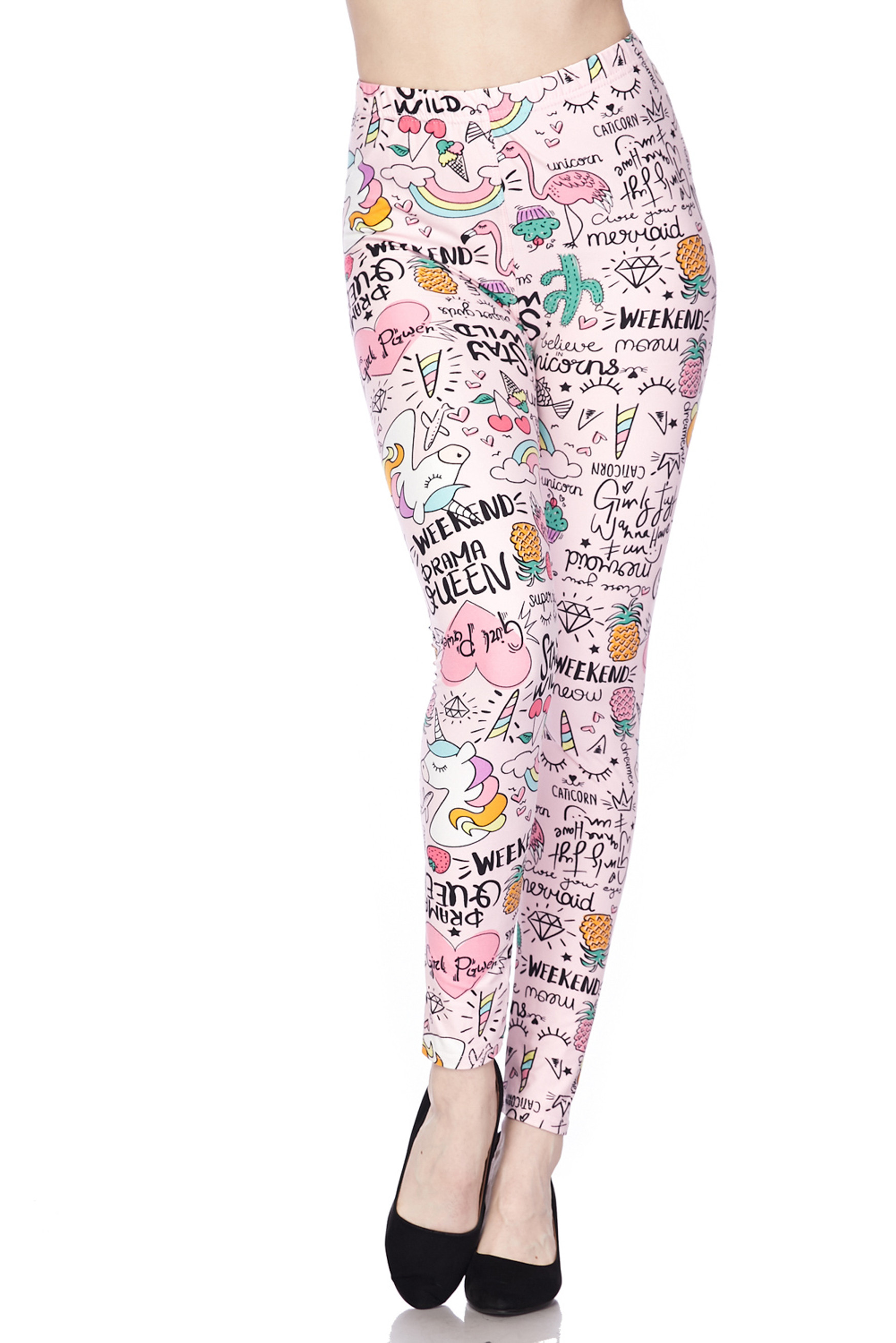 Soft Brushed Weekend Drama Queen Plus Size Leggings