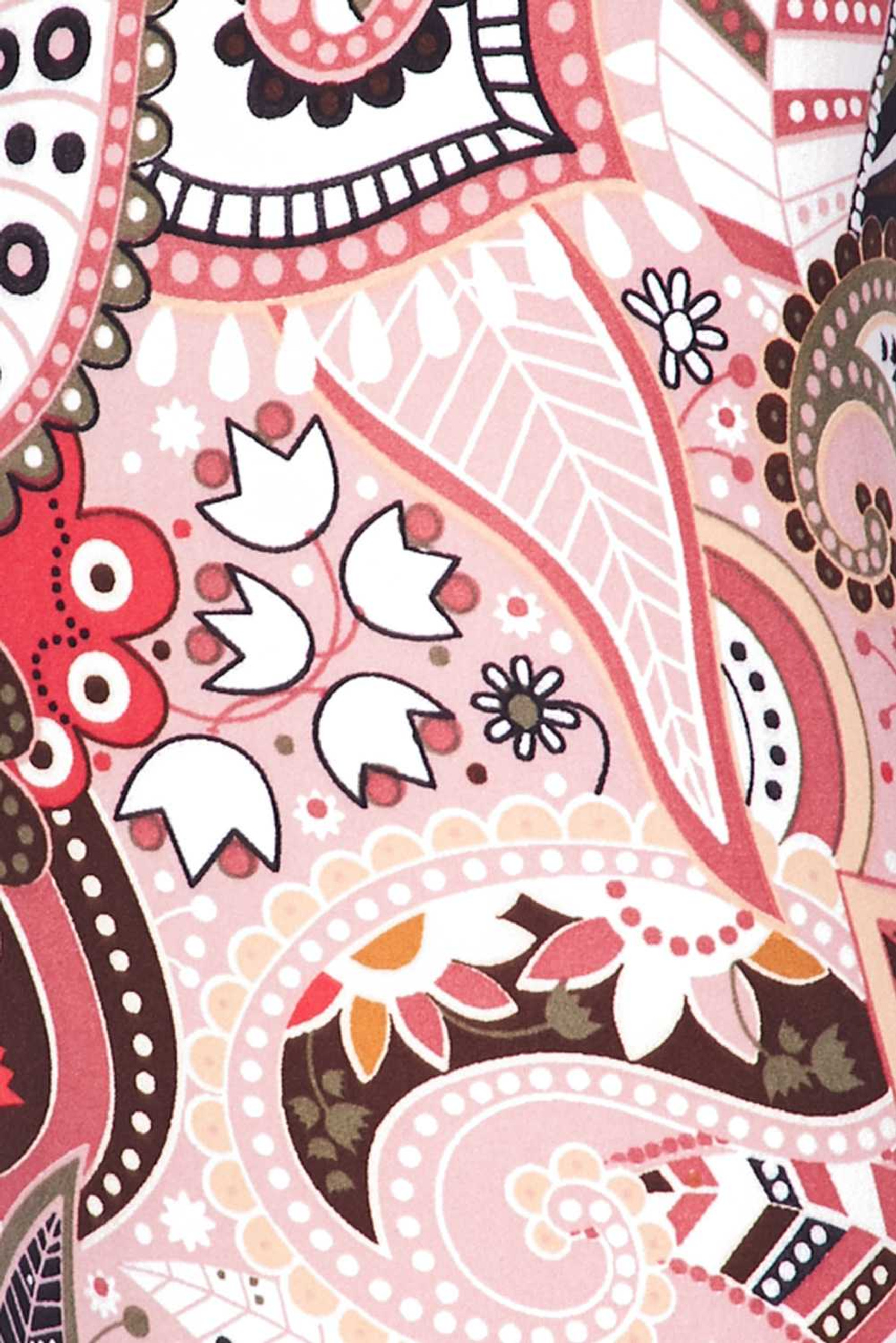 Soft Brushed Pink and Rose Paisley Kids Leggings